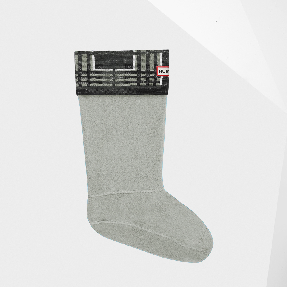 Hunter Knitted Tartan Socks in Black (tartan black/white) Lyst