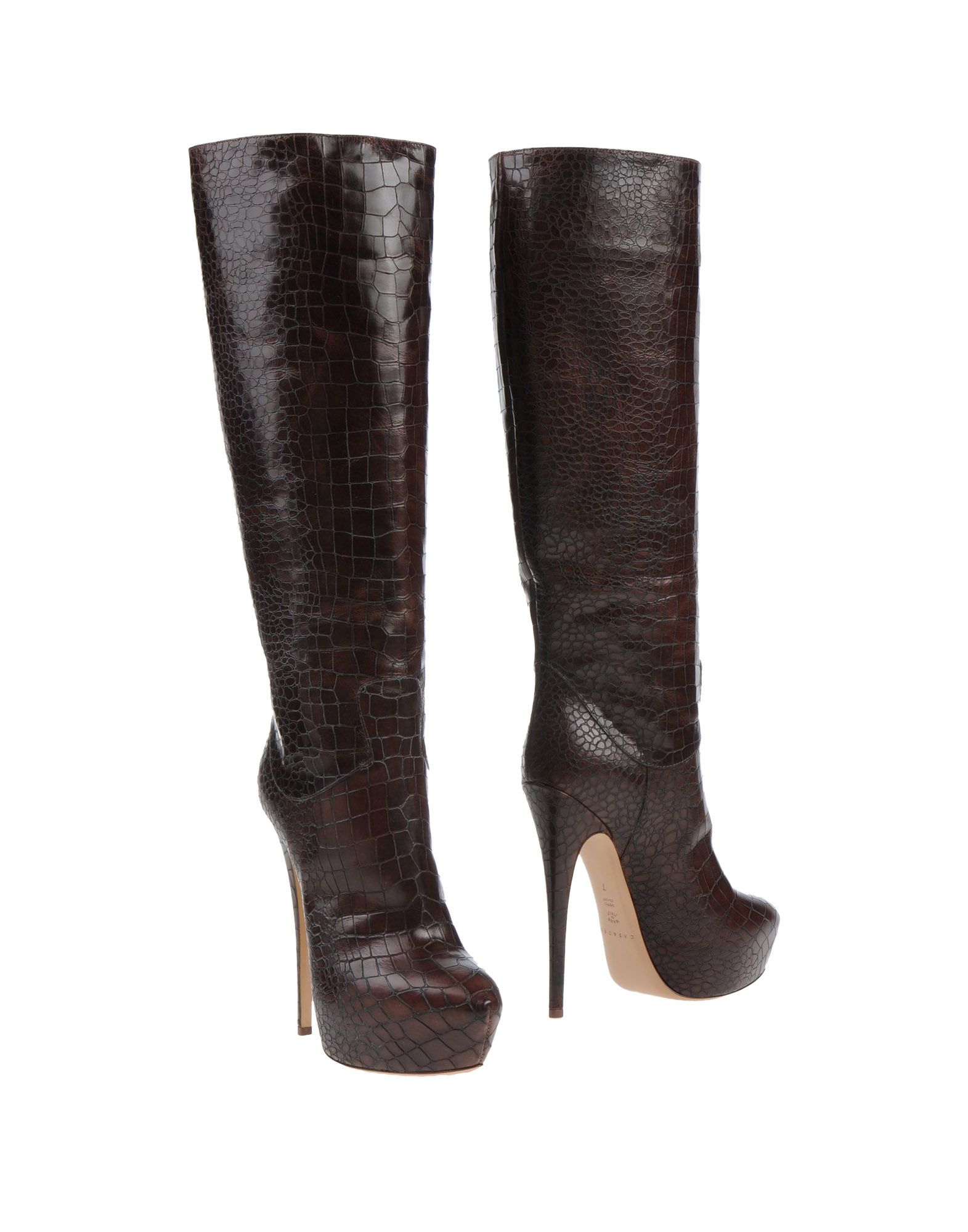 casadei boots in brown dark brown lyst. Black Bedroom Furniture Sets. Home Design Ideas