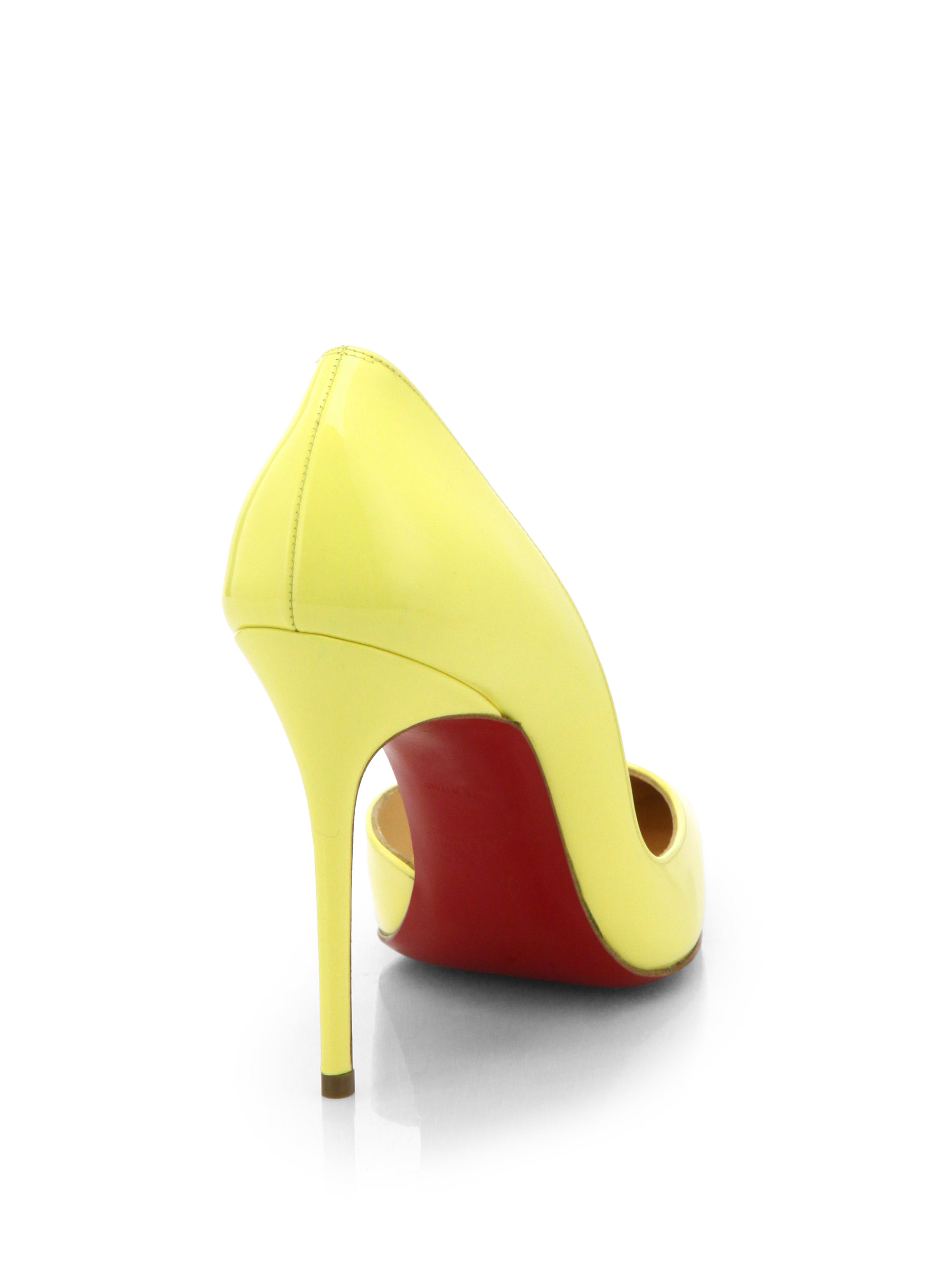 christian louboutin yellow iriza
