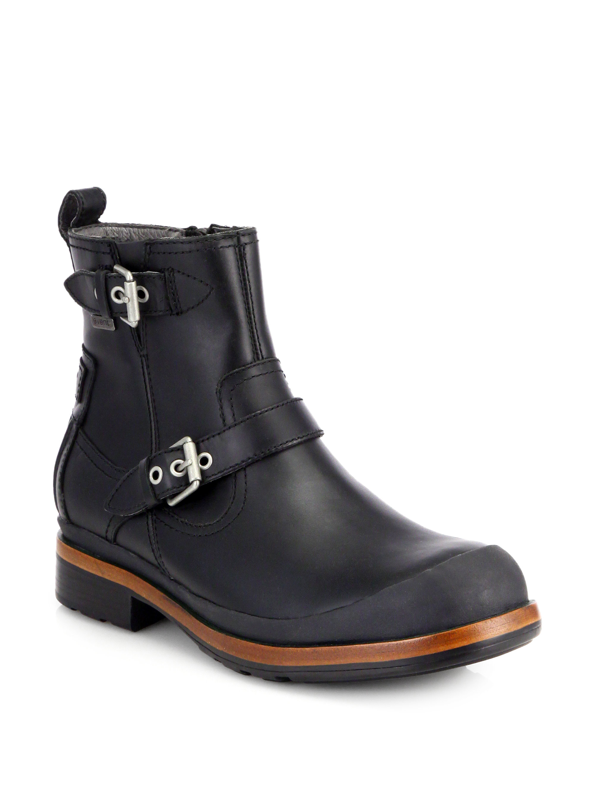Ugg Alston Leather Buckle Boots In Black For Men Lyst