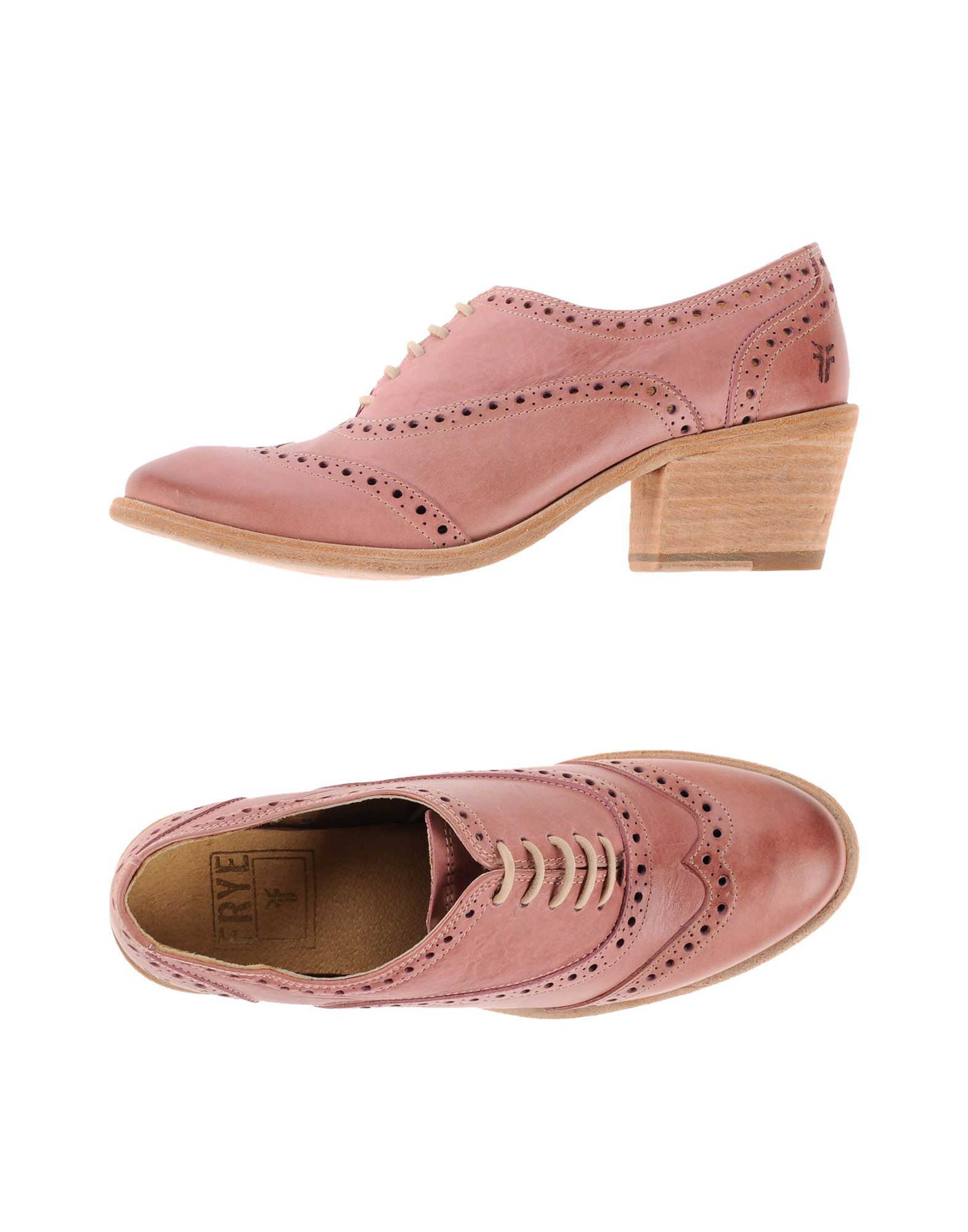 frye lace up shoes in pink pastel pink lyst