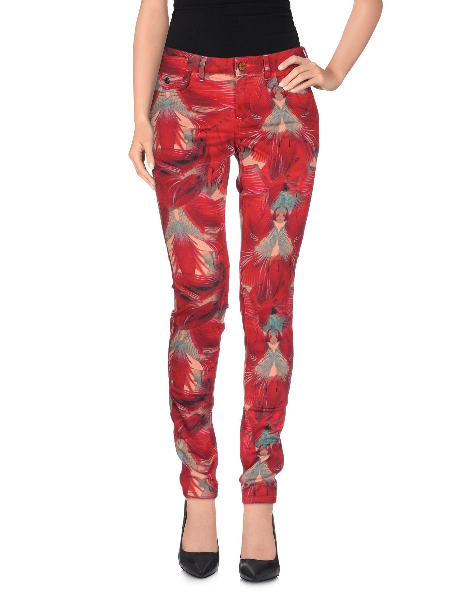 maison scotch la parisienne skinny jeans in red lyst. Black Bedroom Furniture Sets. Home Design Ideas