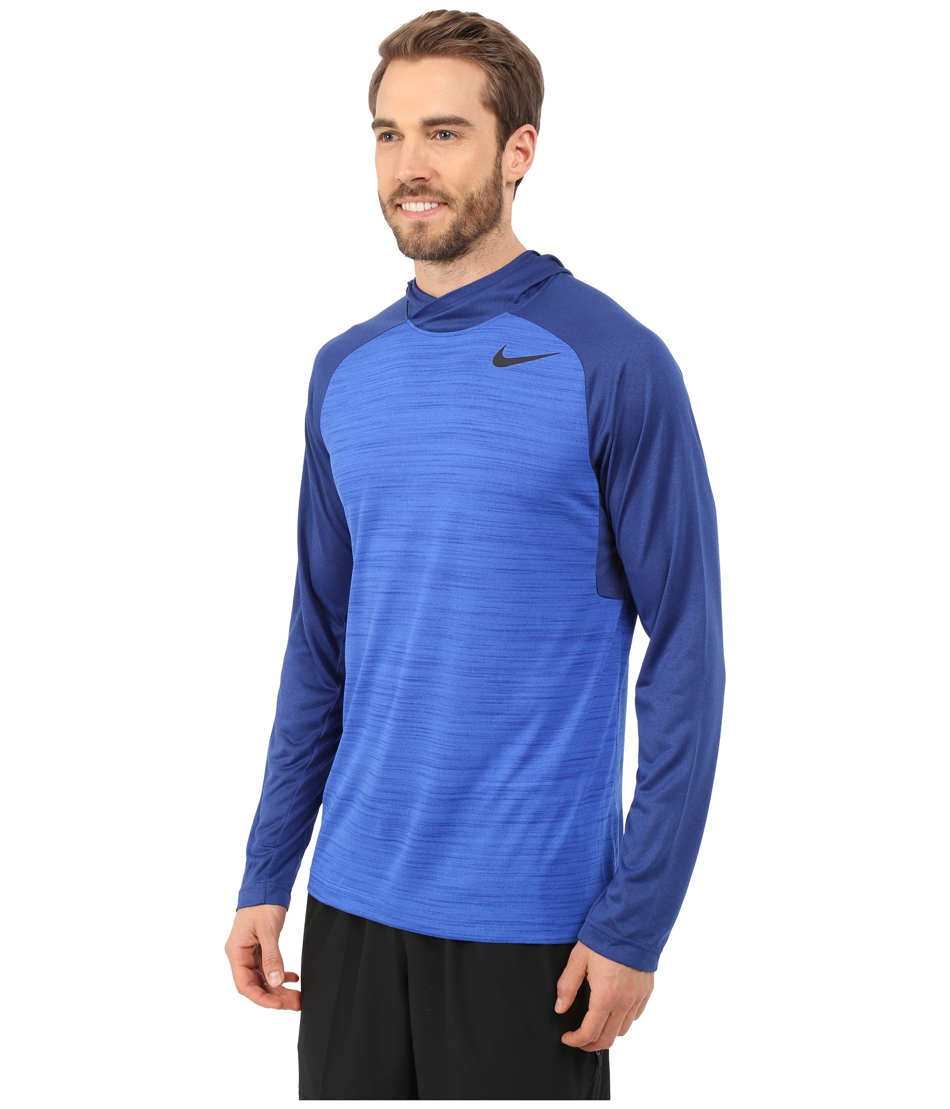 959188e8f242 Lyst - Nike Dri-fit™ Touch Long Sleeve Hoodie in Blue for Men