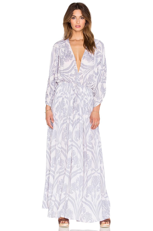 58524c5b33 Lyst - Indah Cedar Printed Maxi Dress in White
