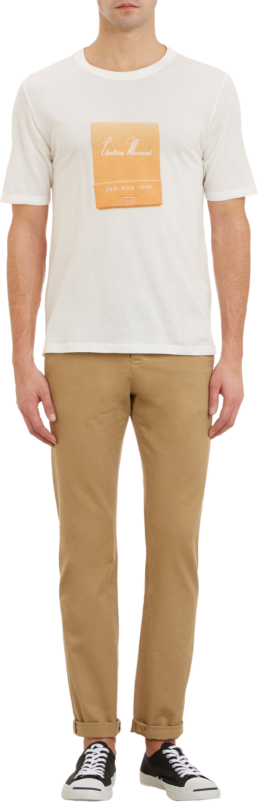268adfce47f Band of Outsiders Chateau Marmont Matchbook Tshirt in White for Men ...