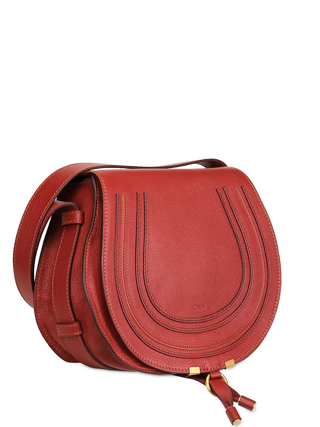cf39c6cd0f Lyst - Chloé Medium Marcie Leather Crossbody Bag in Red