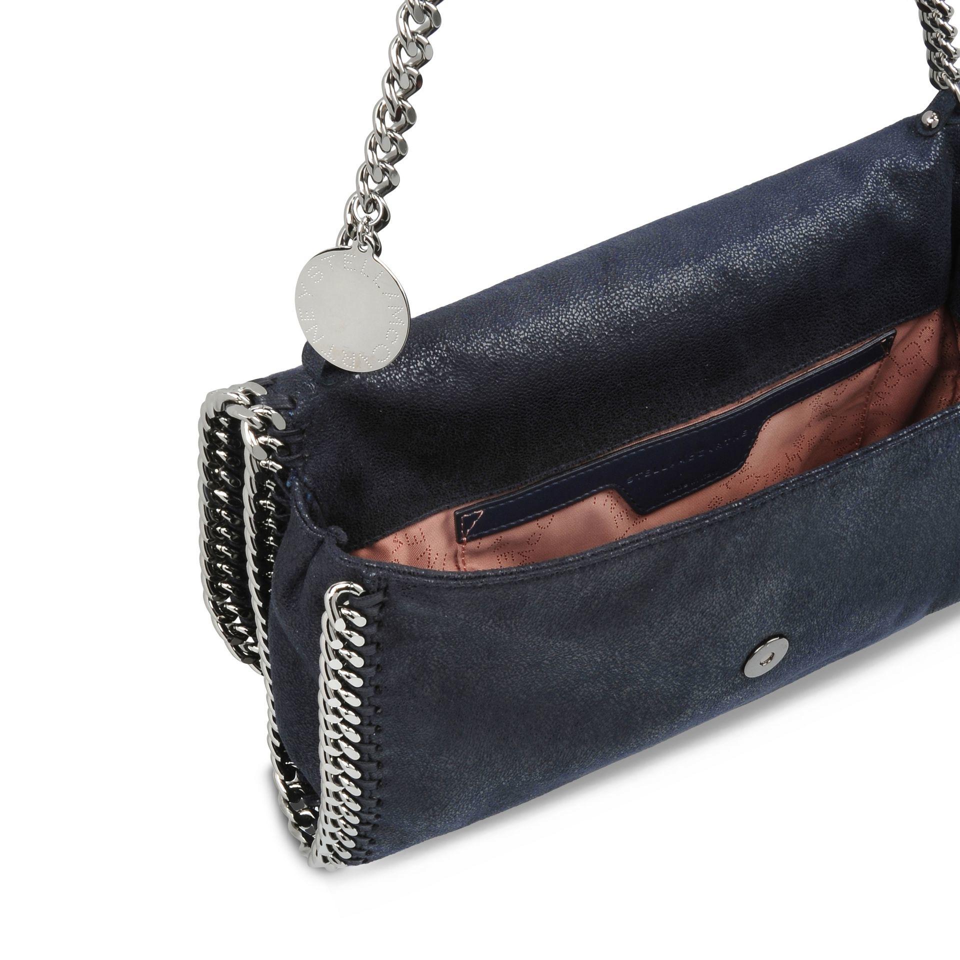 18217c36981 Lyst - Stella McCartney Navy Falabella Shaggy Deer Shoulder Bag in Blue