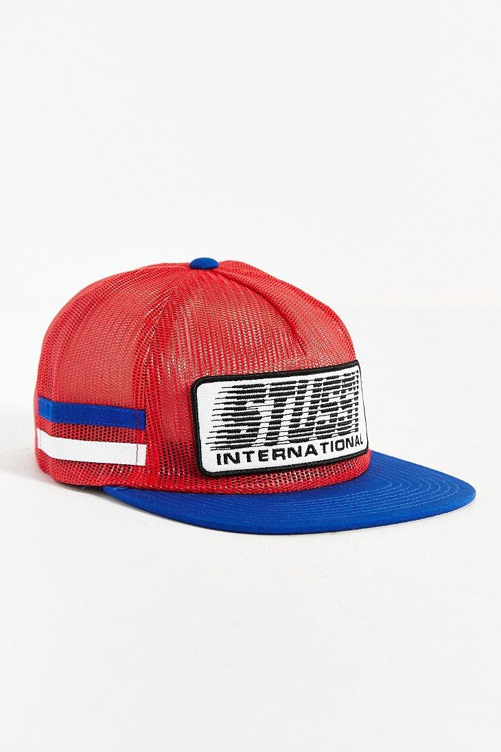 90e0bcbba10b6c Stussy Bmx Trucker Hat in Red for Men - Lyst