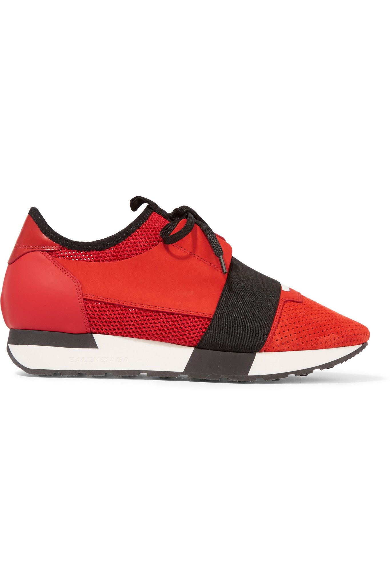 Balenciaga Race Runner Leather, Mesh, Suede And Neoprene Sneakers in ...