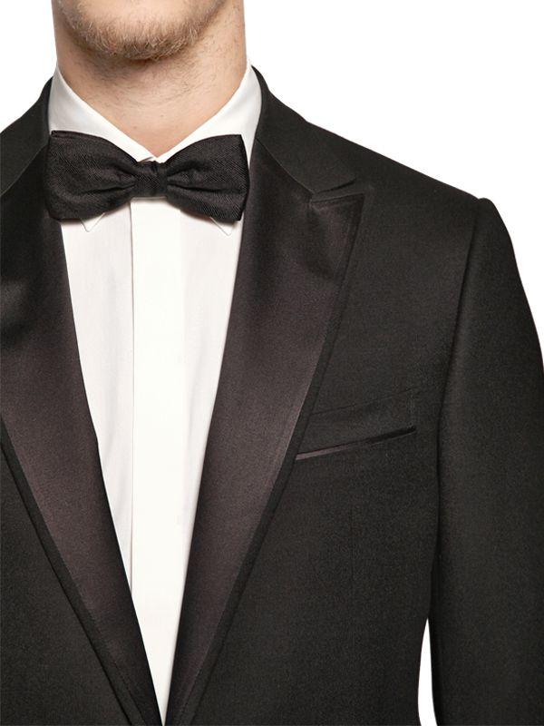 348d533f Zegna Black Bow Tie - Image Of Tie
