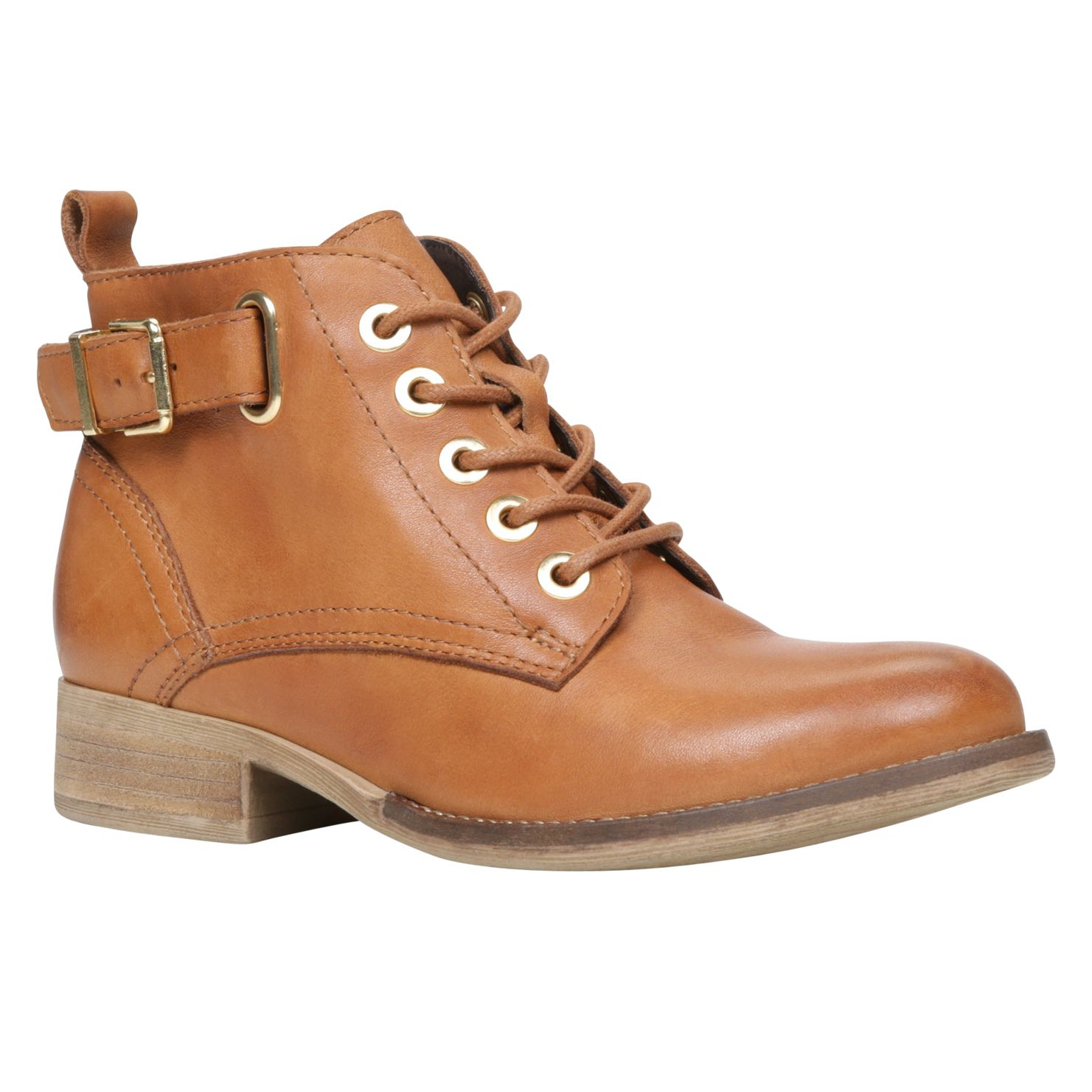 aldo sybil lace up ankle boots in brown almond lyst
