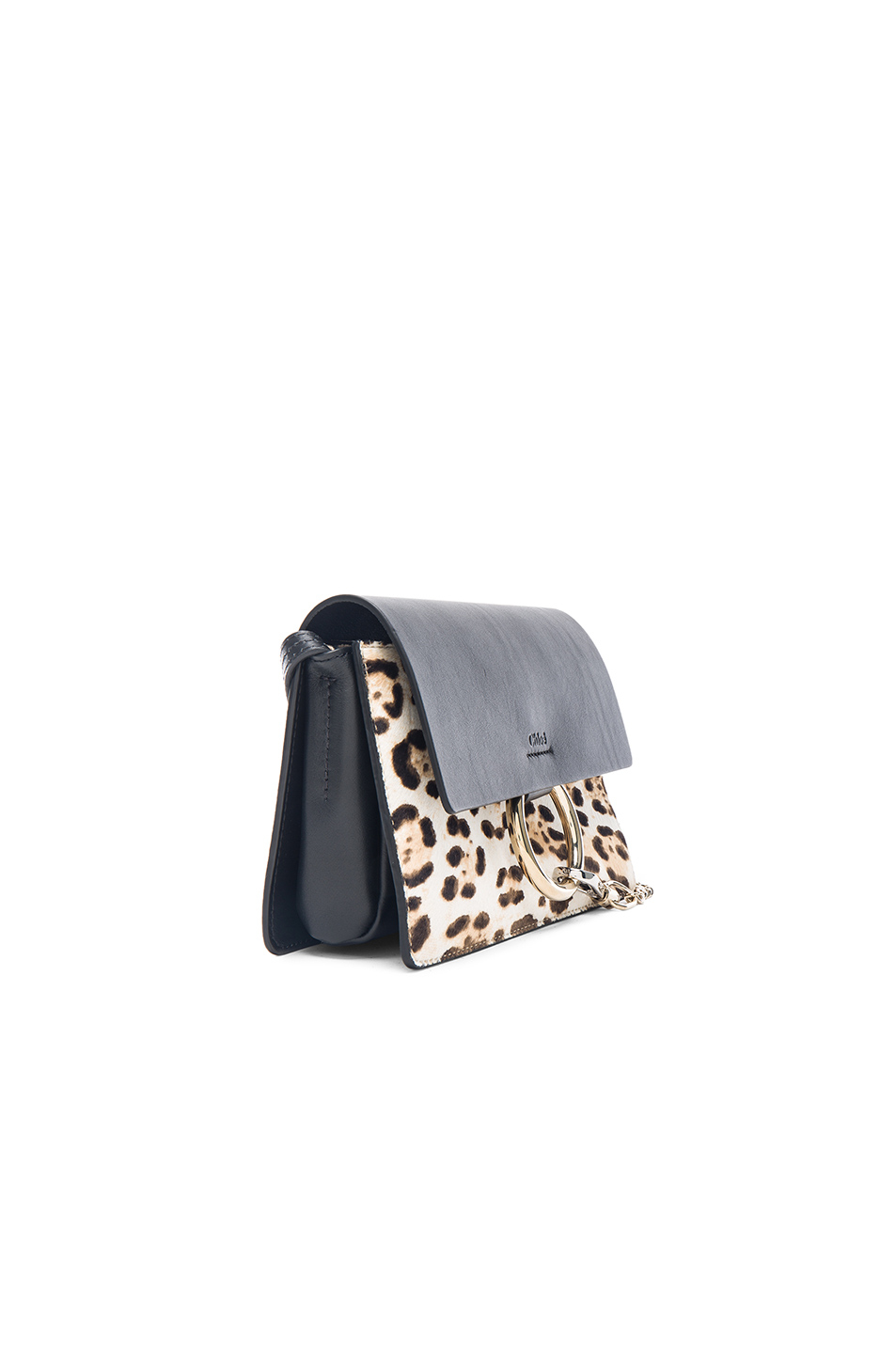 Chlo�� Faye Small Leopard-Print Leather Bag in Brown (Animal Print ...