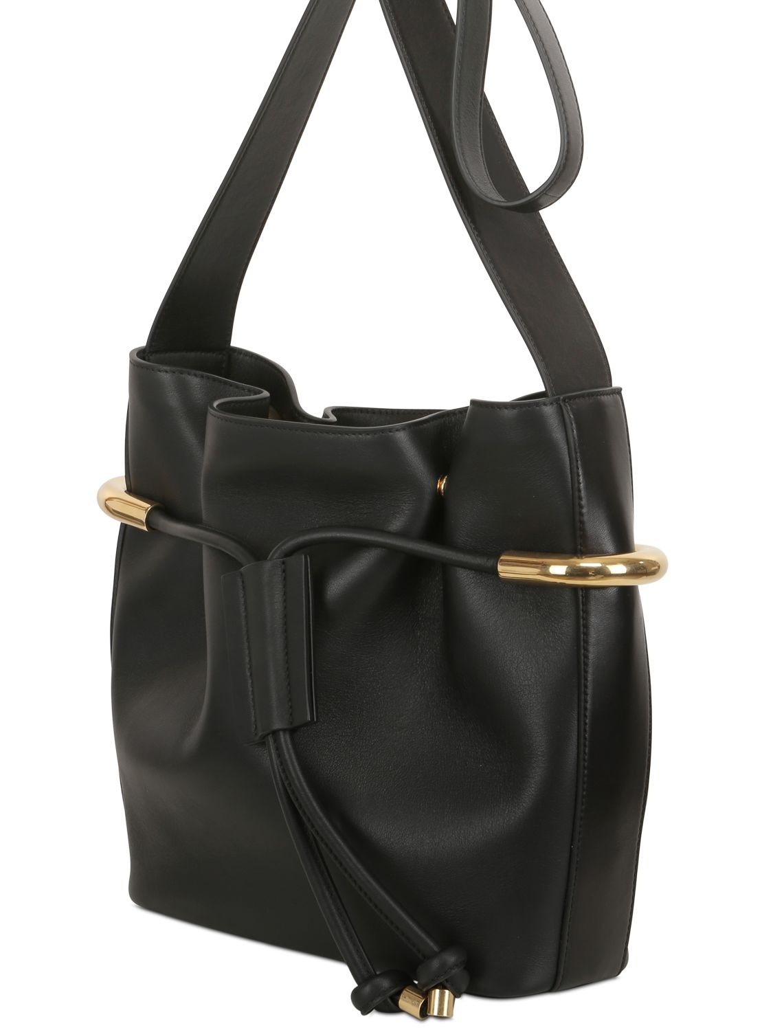 Chloé Medium Emma Smooth Leather Bucket Bag in Black - Lyst 8a01f13d5c
