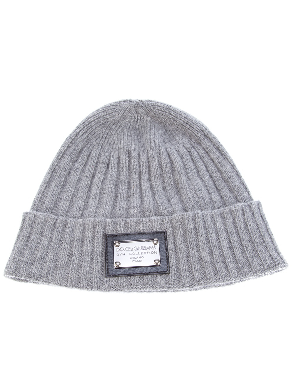 95bbfe1a40e Dolce   Gabbana Ribbed Beanie in Gray for Men - Lyst