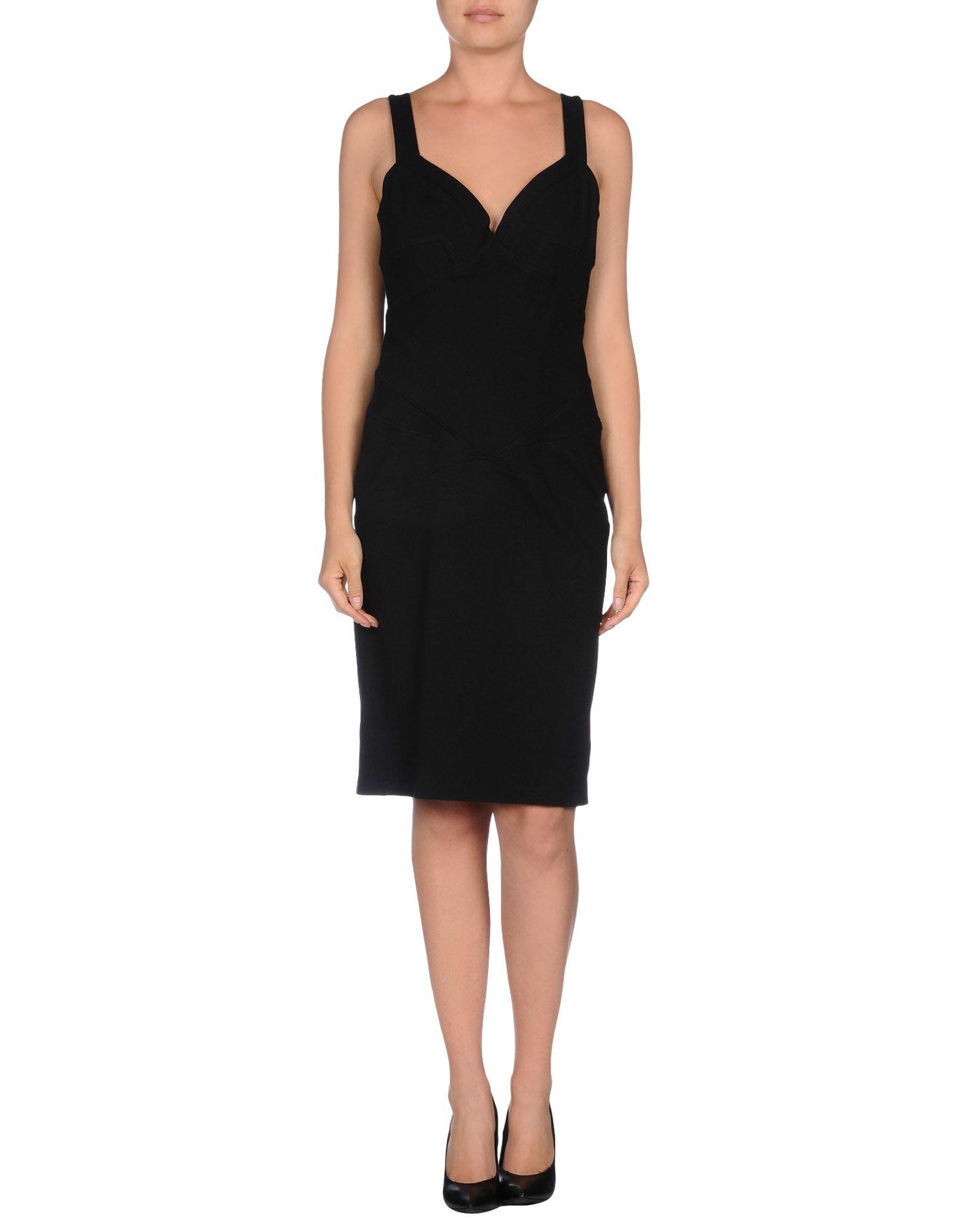 Diane von furstenberg knee length dress in black lyst for Diane von furstenberg clothing