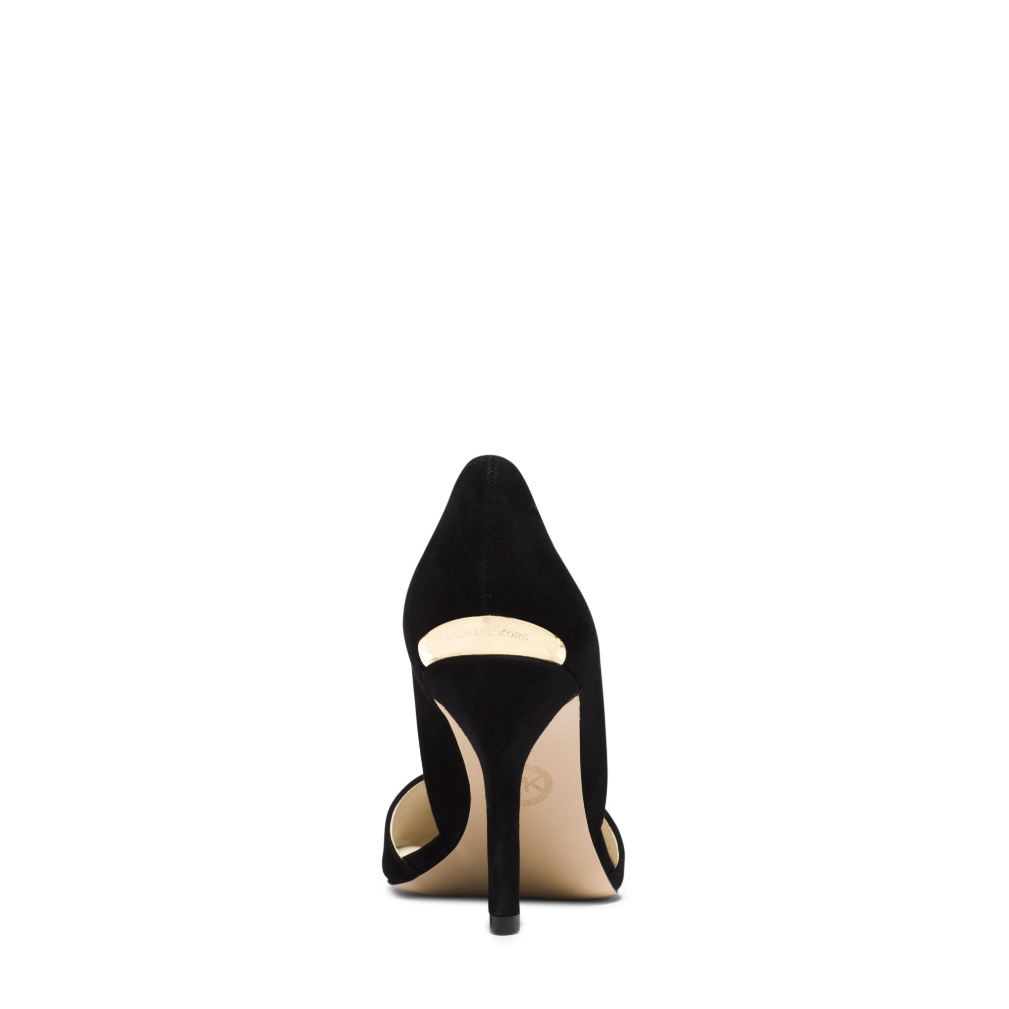23102aa39958 Lyst - Michael Kors Julieta Suede D orsay Pump in Black