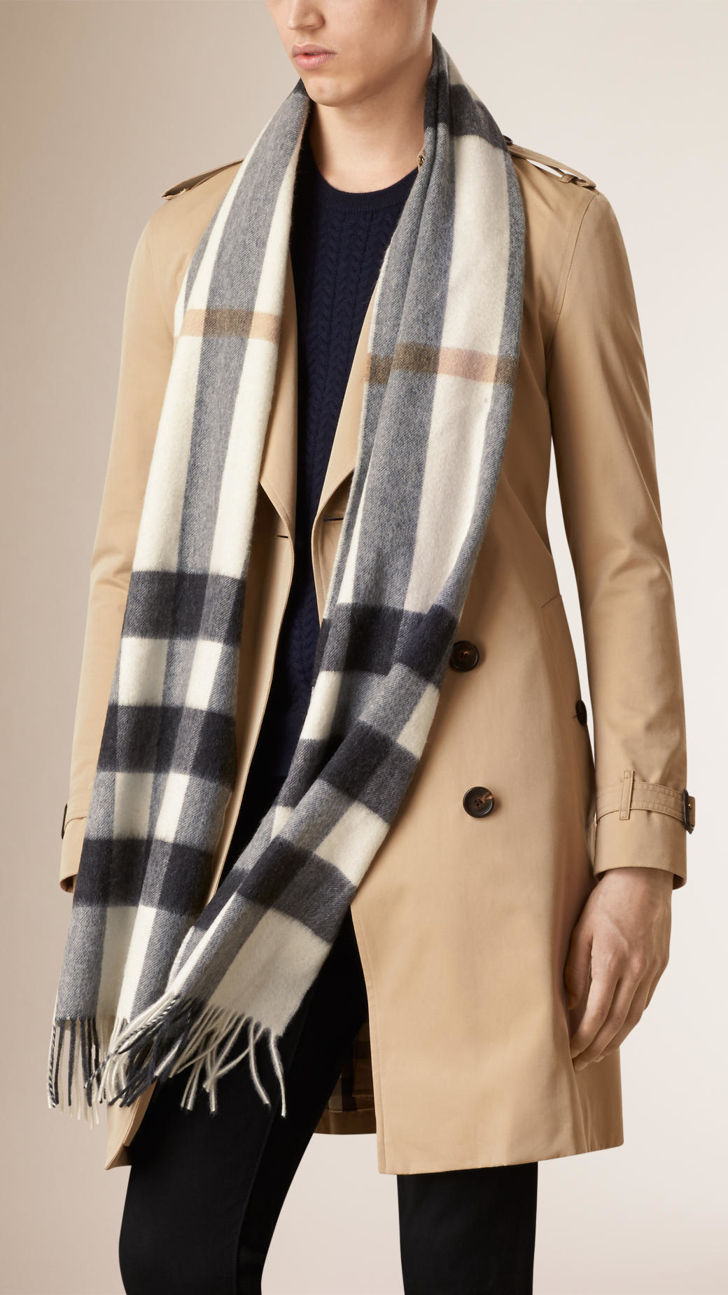 1e74e76d05dc1 ... where to buy lyst burberry giant exploded check cashmere scarf in white  a81a6 64f12