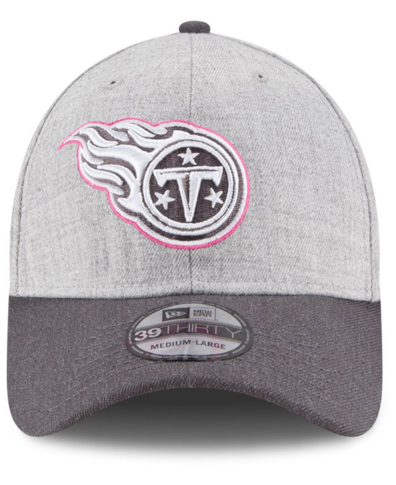 5483d100b1b ... wholesale lyst ktz tennessee titans breast cancer awareness 39thirty  cap in gray 79aca 19a2d