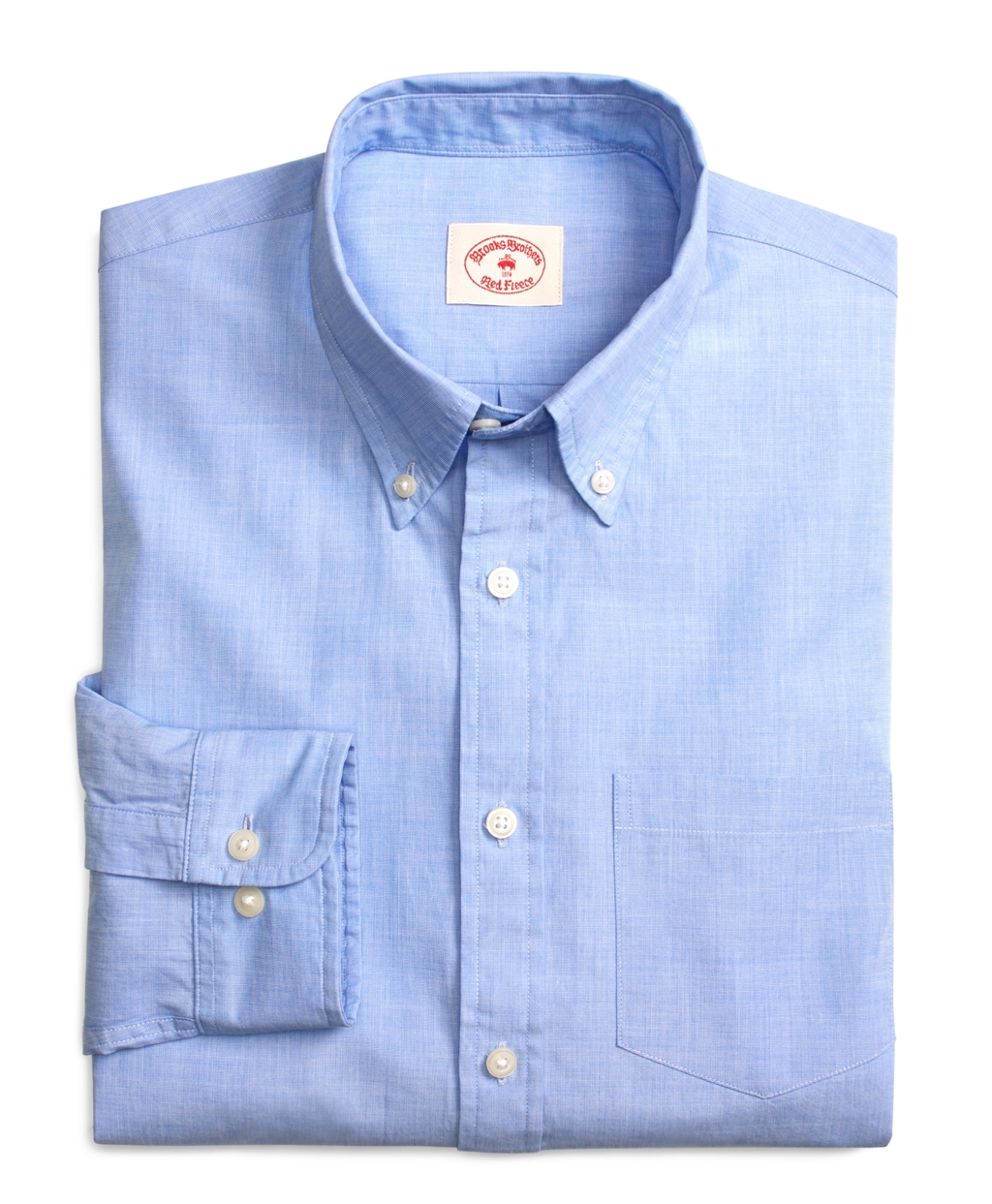 Brooks brothers solid light blue end on end sport shirt in for Brooks brothers sports shirts