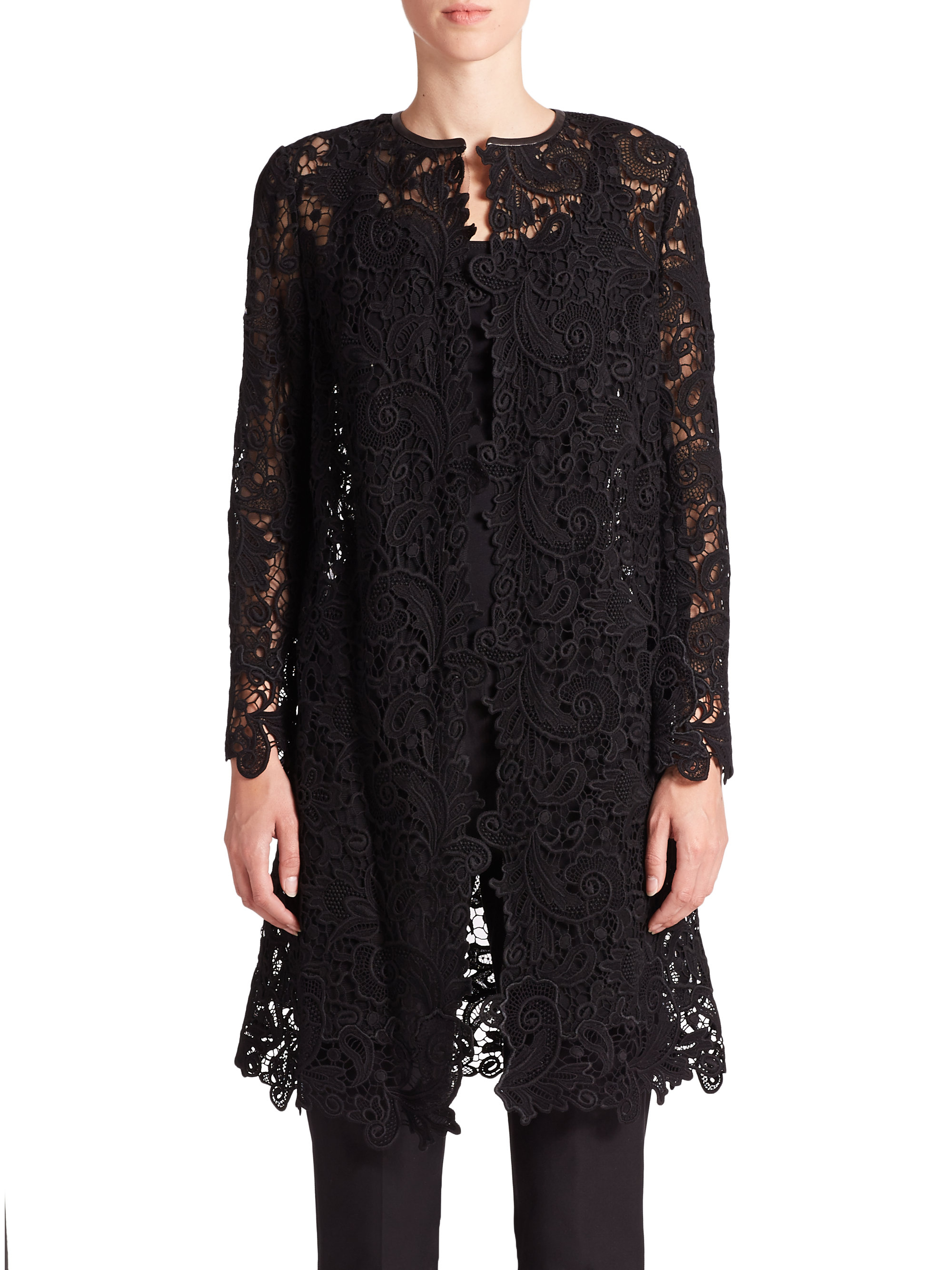 Ralph lauren Black Label Thora Lace Duster in Black