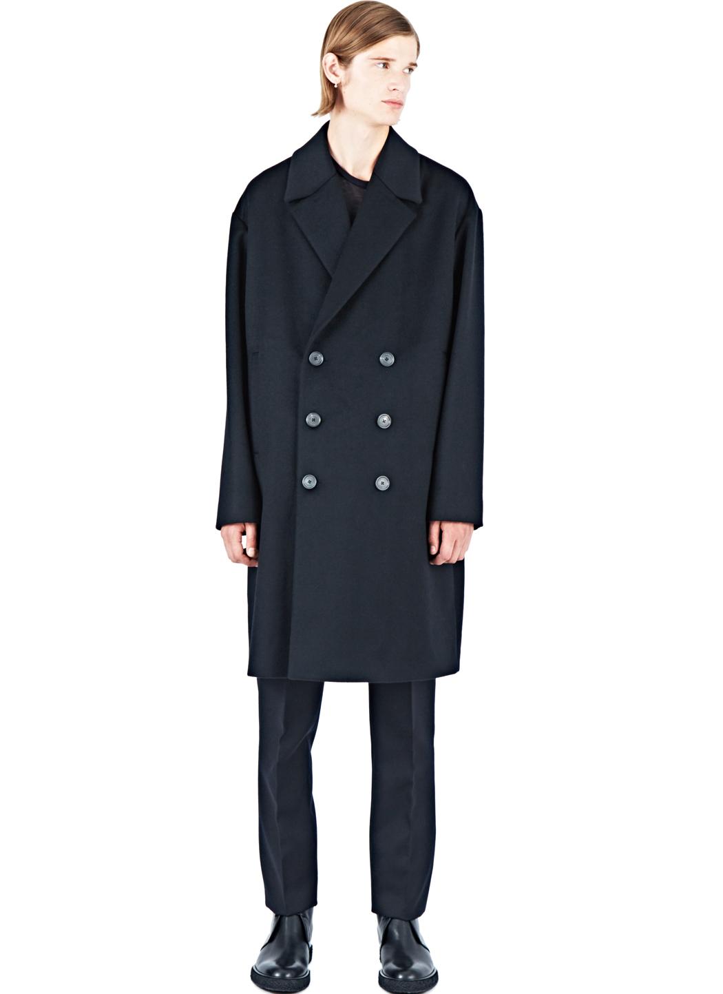 Calvin Klein Juno Cashmere Coat In Black For Men Lyst