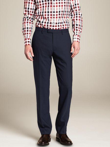 Banana Republic Modern Slim Fit Navy Wool Dress Pant In