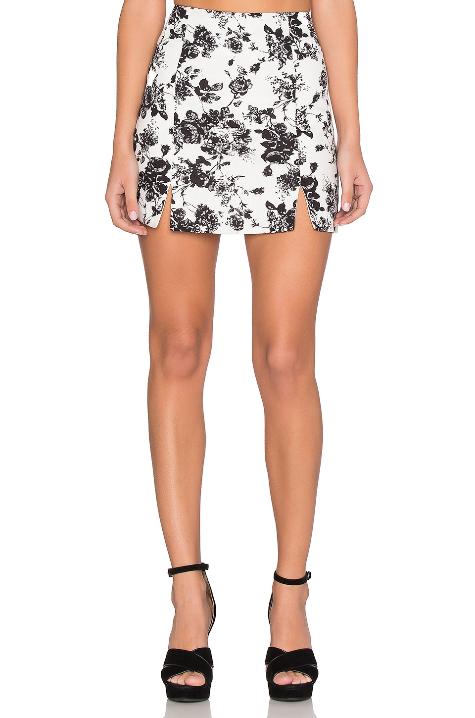 lucca couture linen a line skirt in white lyst