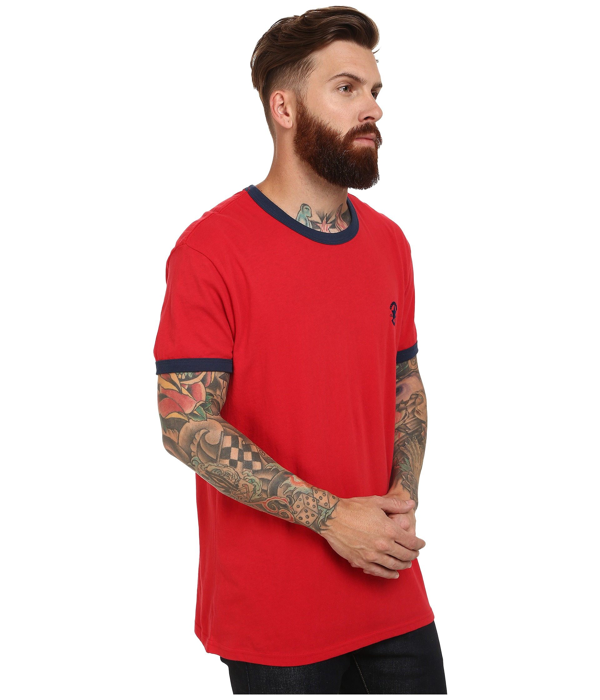 5426687e159af7 Lyst - Converse Chuck Premium Short Sleeve Ringer Tee in Red for Men