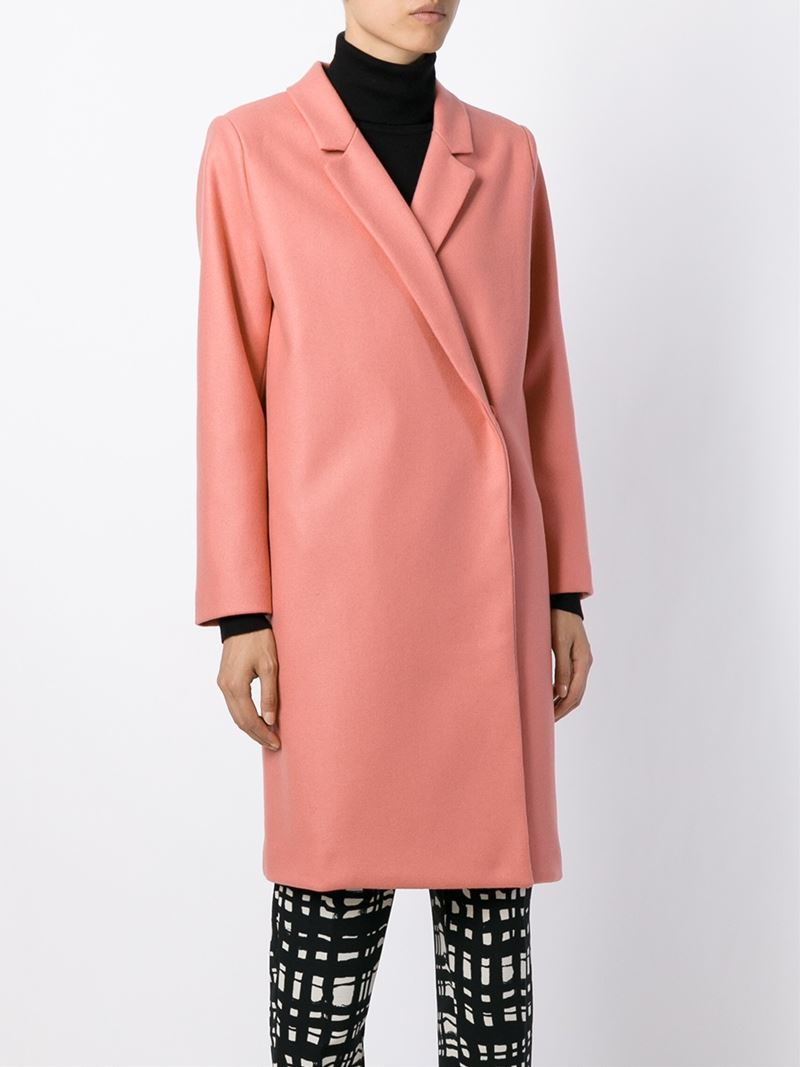 Erika cavallini semi couture Double Breasted Coat in Pink | Lyst