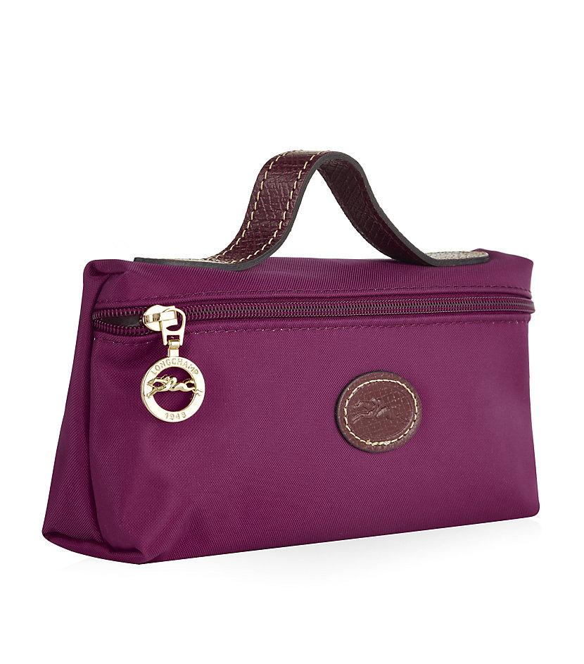 bd40178941 Longchamp Le Pliage Cosmetic Case in Purple - Lyst