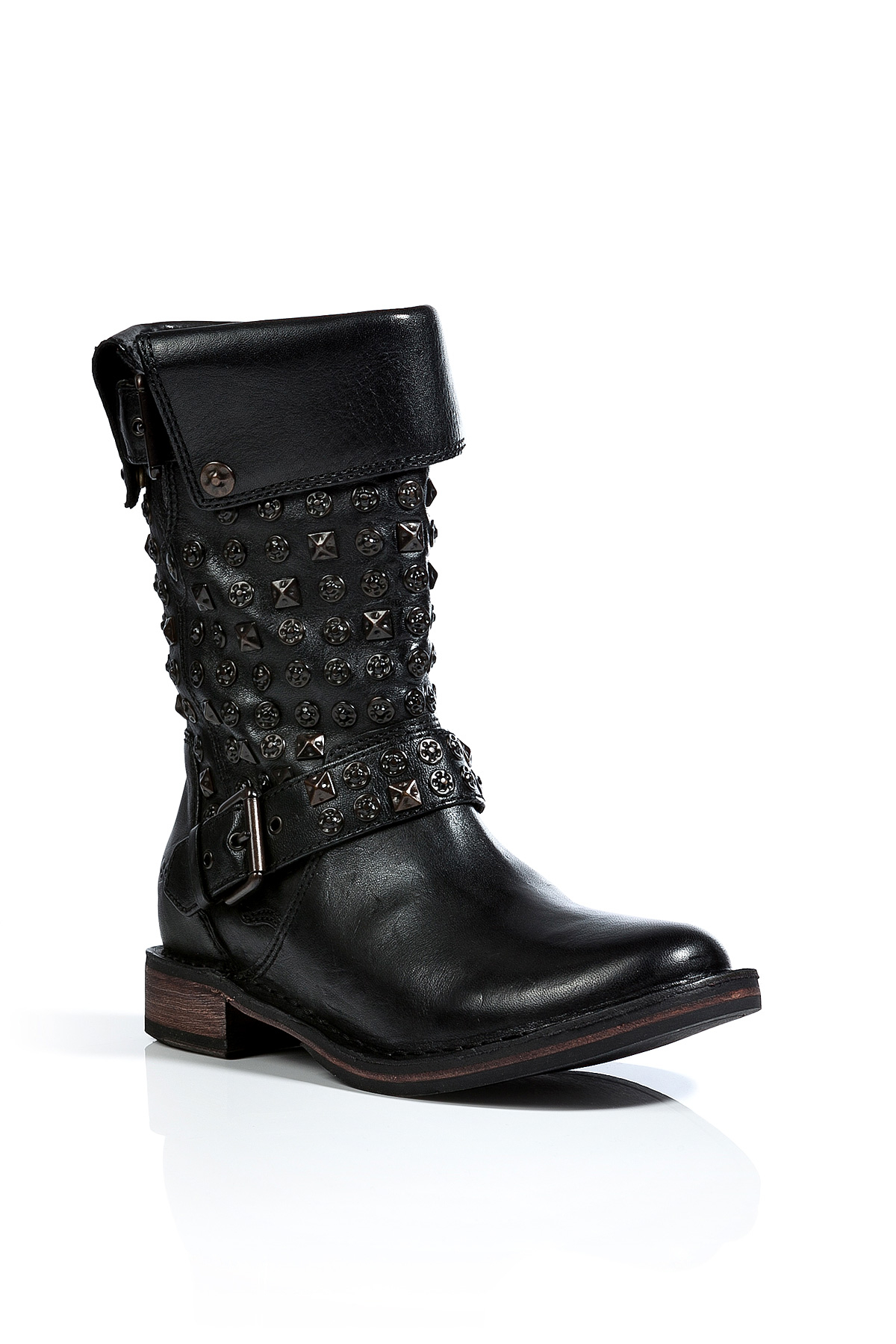 Lyst Ugg Leather Conor Studded Boots In Black In Black