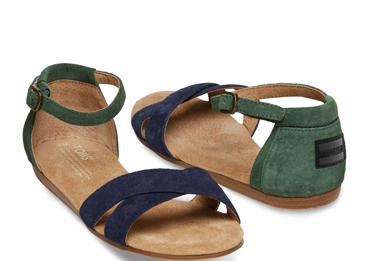 8d26bbdc89b Lyst - TOMS Suede Womens Correa Sandals in Blue