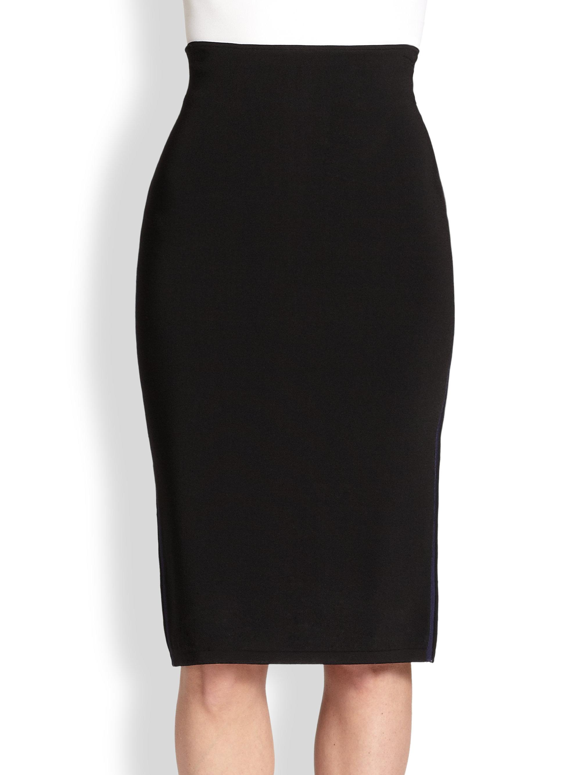 Rag & Bone Roxy Stretch Knit Pencil Skirt in Black | Lyst