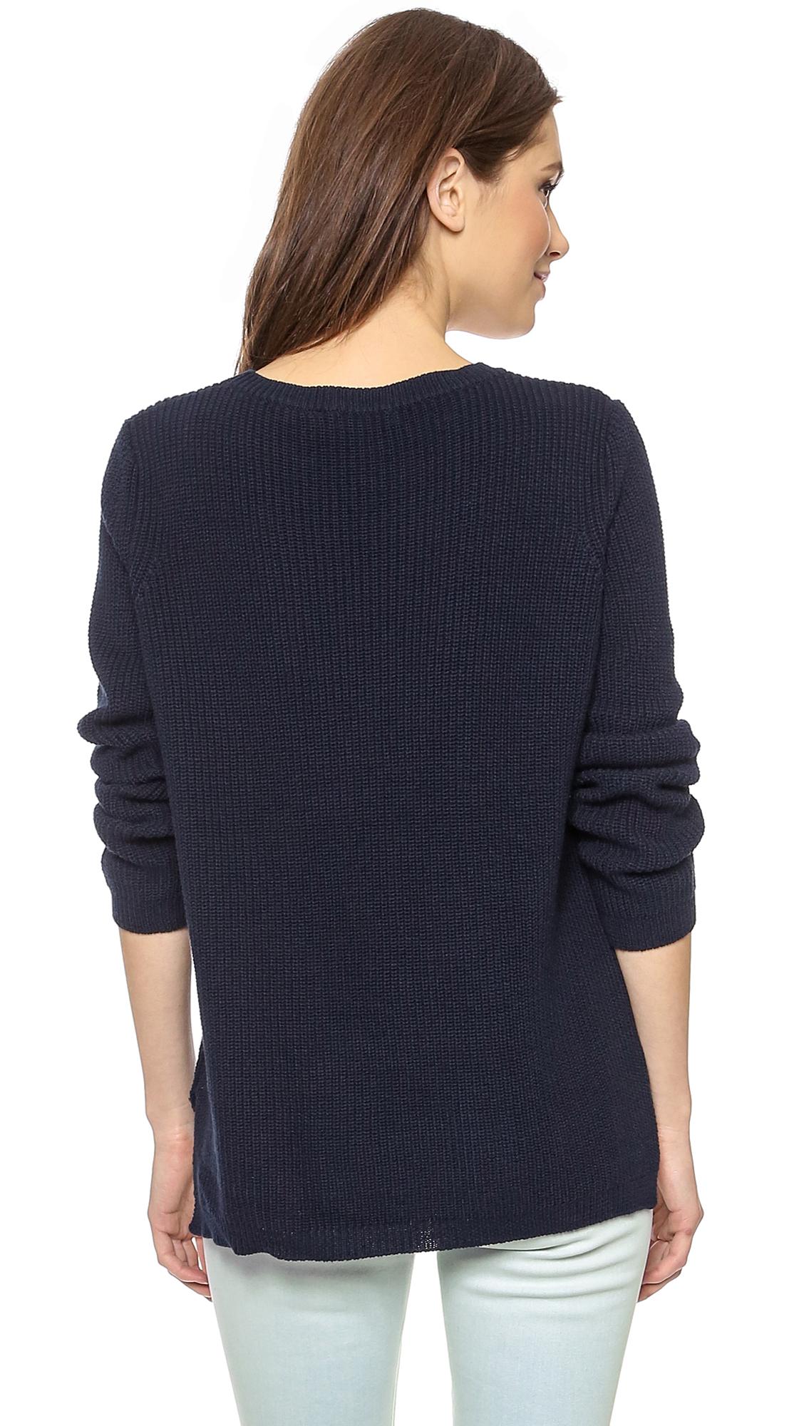 525 america Emma Shaker Sweater in Blue | Lyst