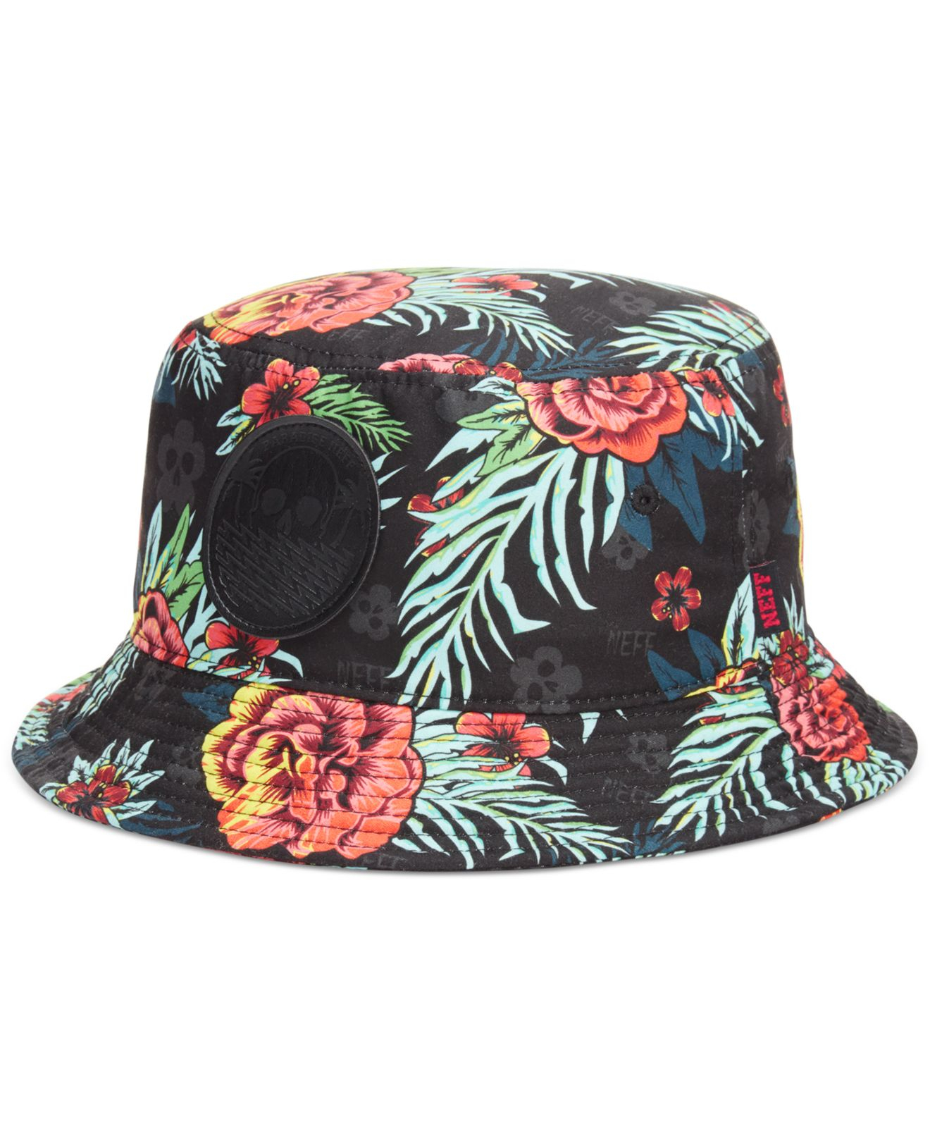 aa32563e194 official store neff mickey floral bucket fisherman hat 44898 e59a3   official store lyst neff astro bucket hat in black for men 4ca68 f86ff