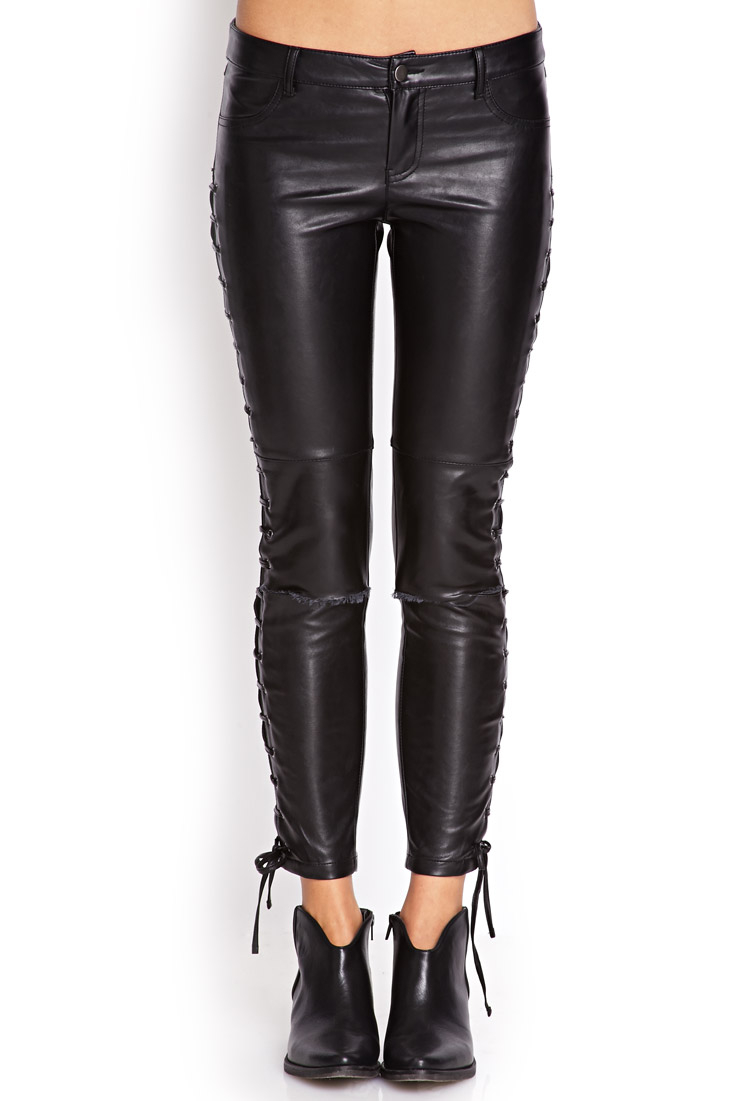 Creative Women Clothing Pants Skinny Forever 21 Skinny Forever 21 Faux Leather