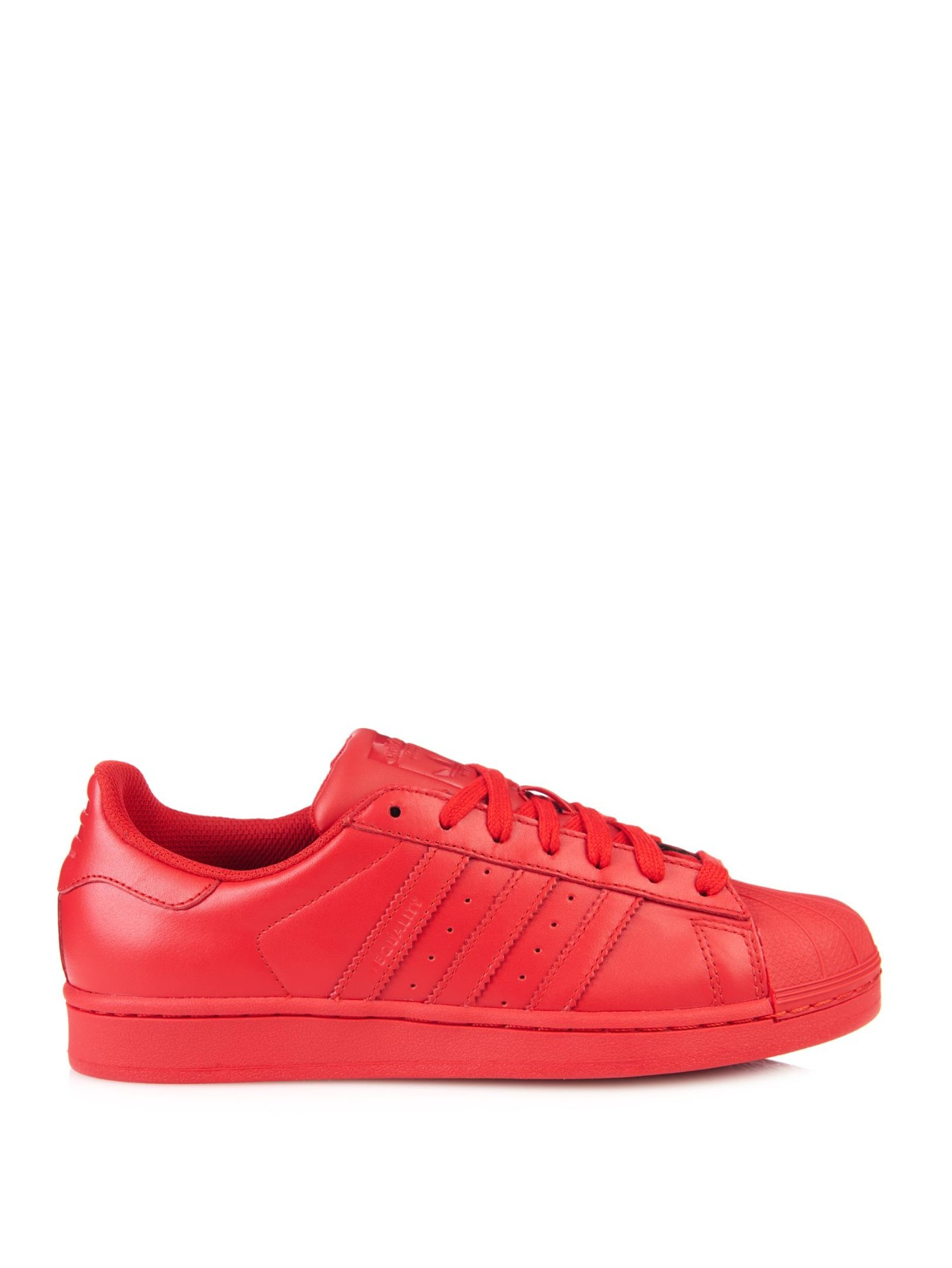 Lyst - adidas Superstar Supercolor Leather Trainers in Red 7a45f3889