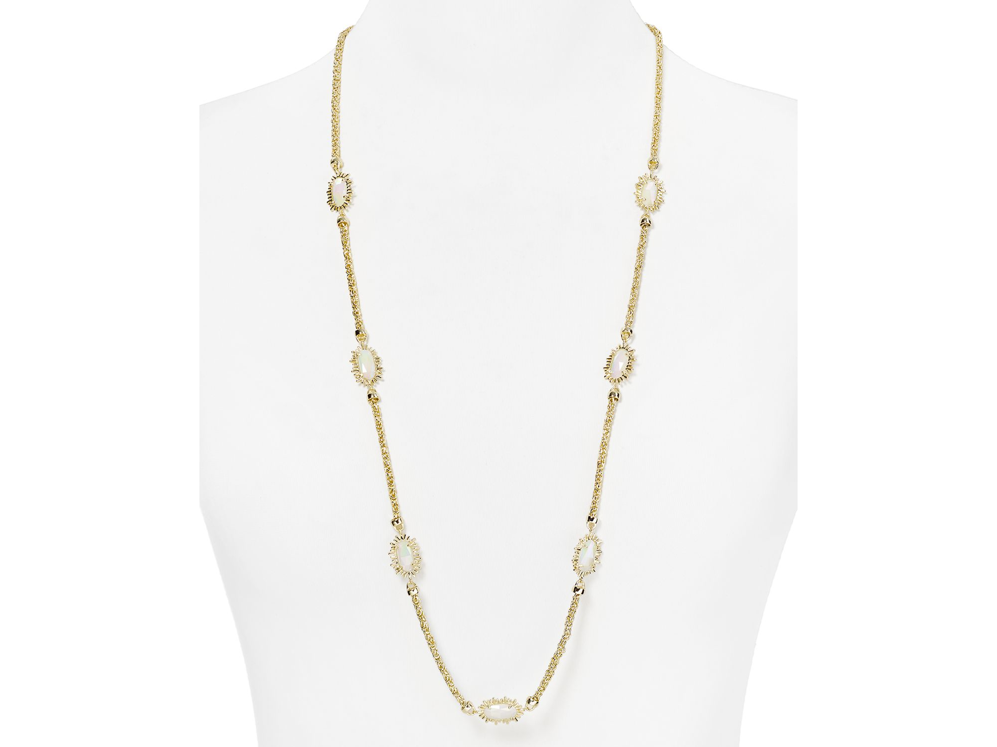 This Kendra Scott Leighton Necklace 33 White Opaque. For more detail ...