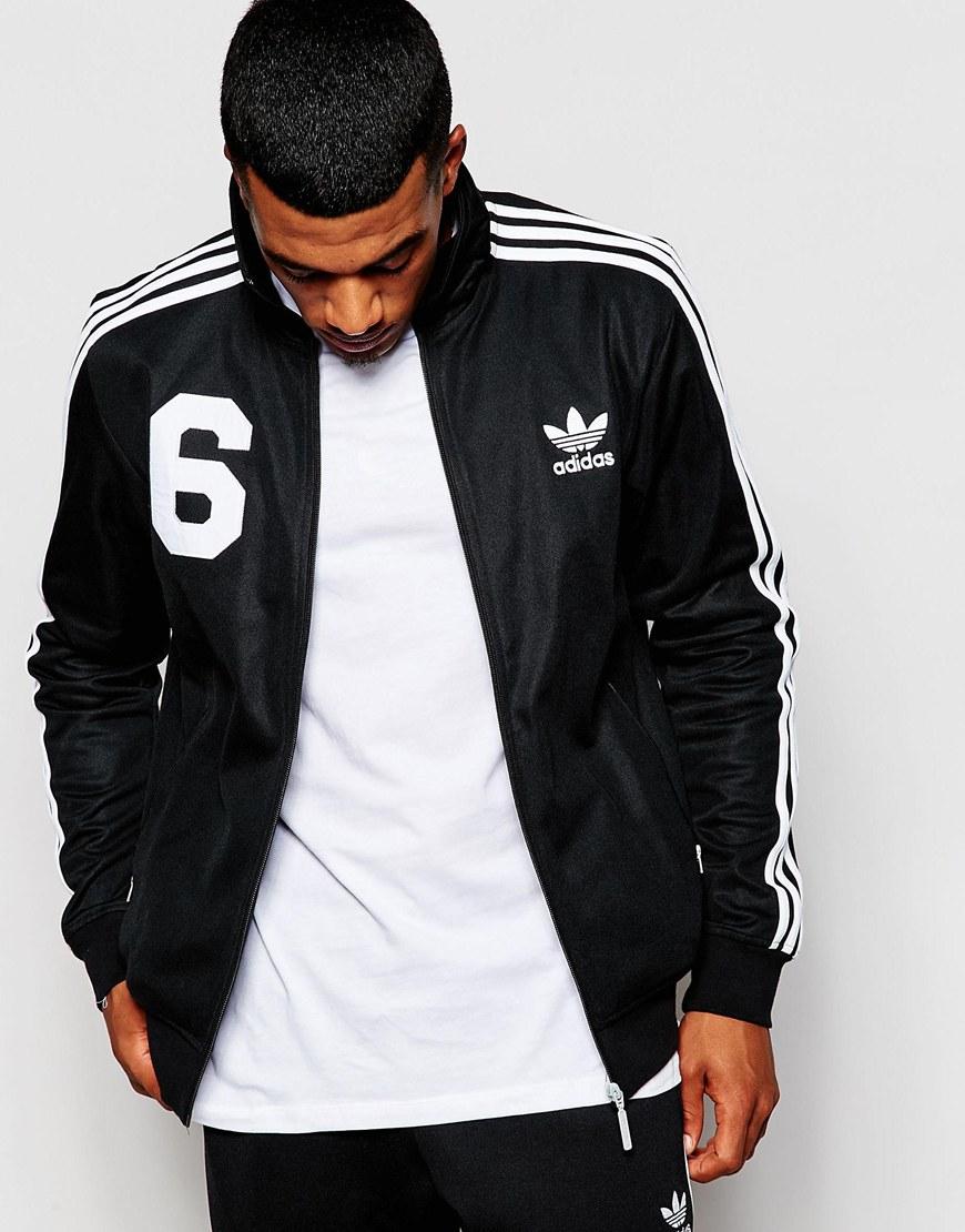2a257edfbb47 Lyst - adidas Originals Beckenbauer Track Jacket With Back Print ...