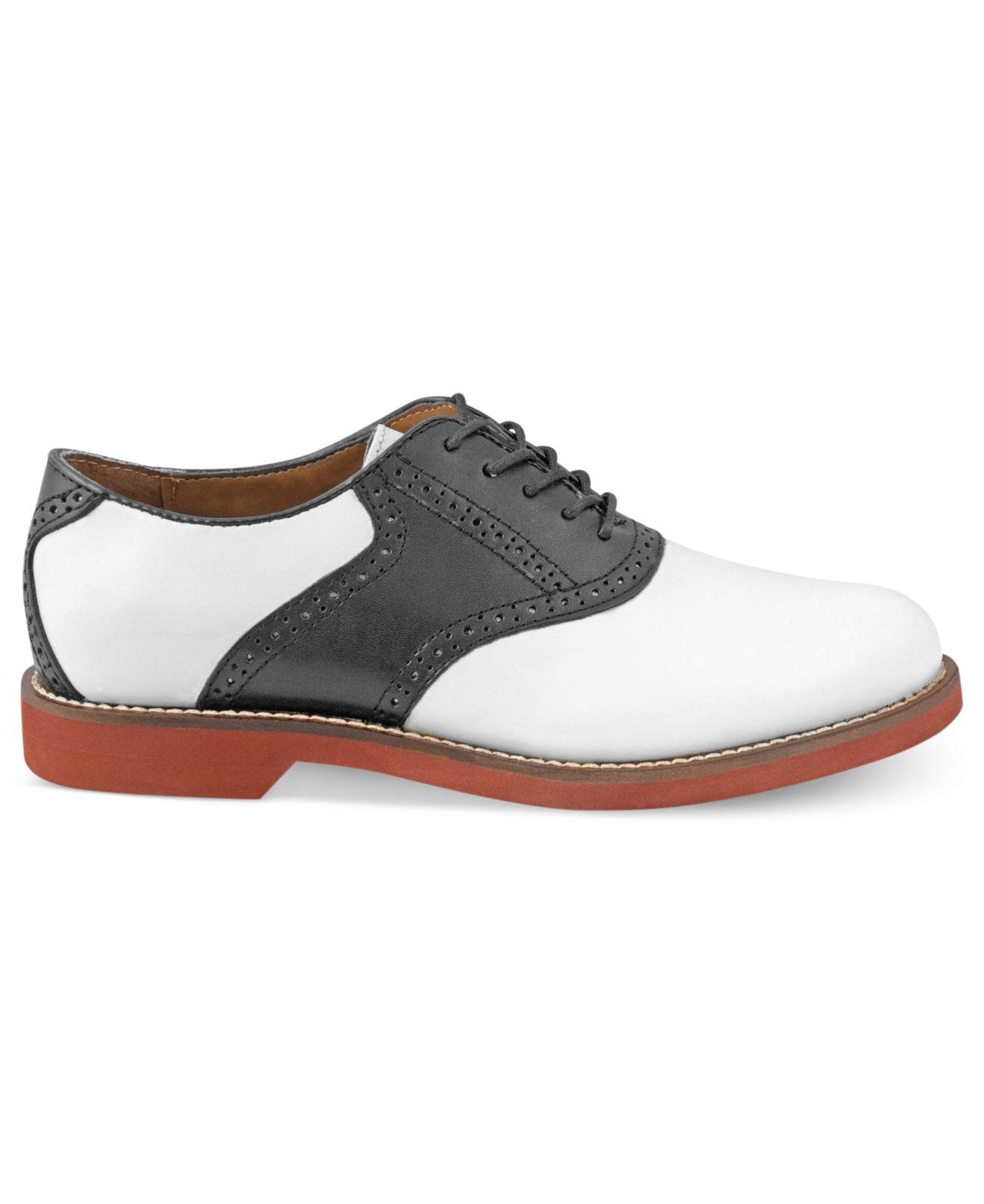 Bass Black White Saddle Shoes