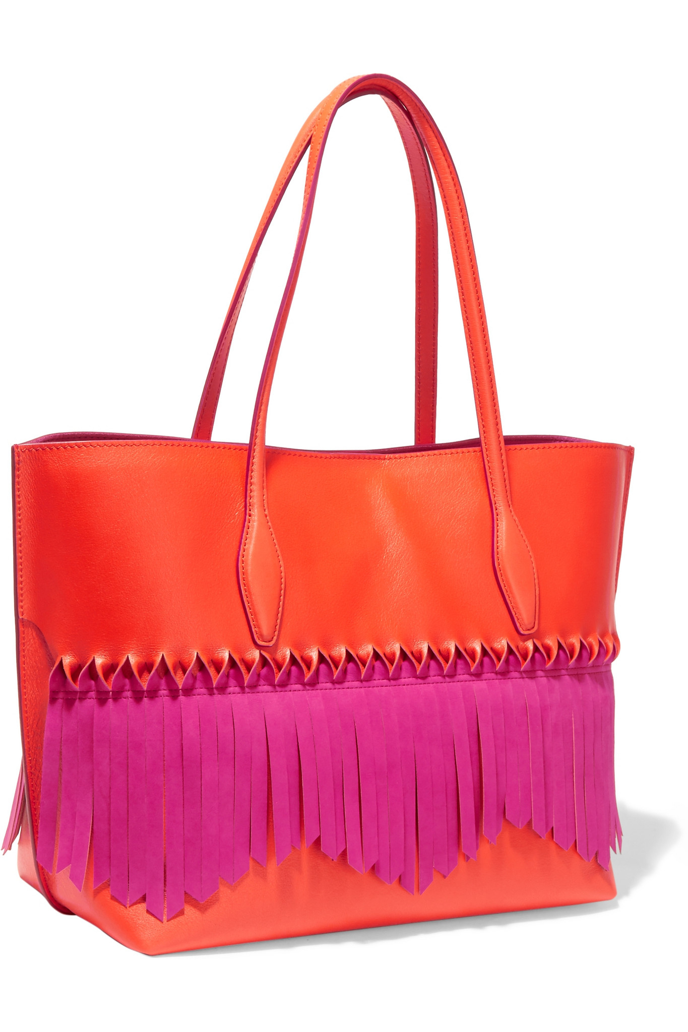 Lyst - Tod'S Joy Origami Fringed Leather Tote in Purple - photo#23