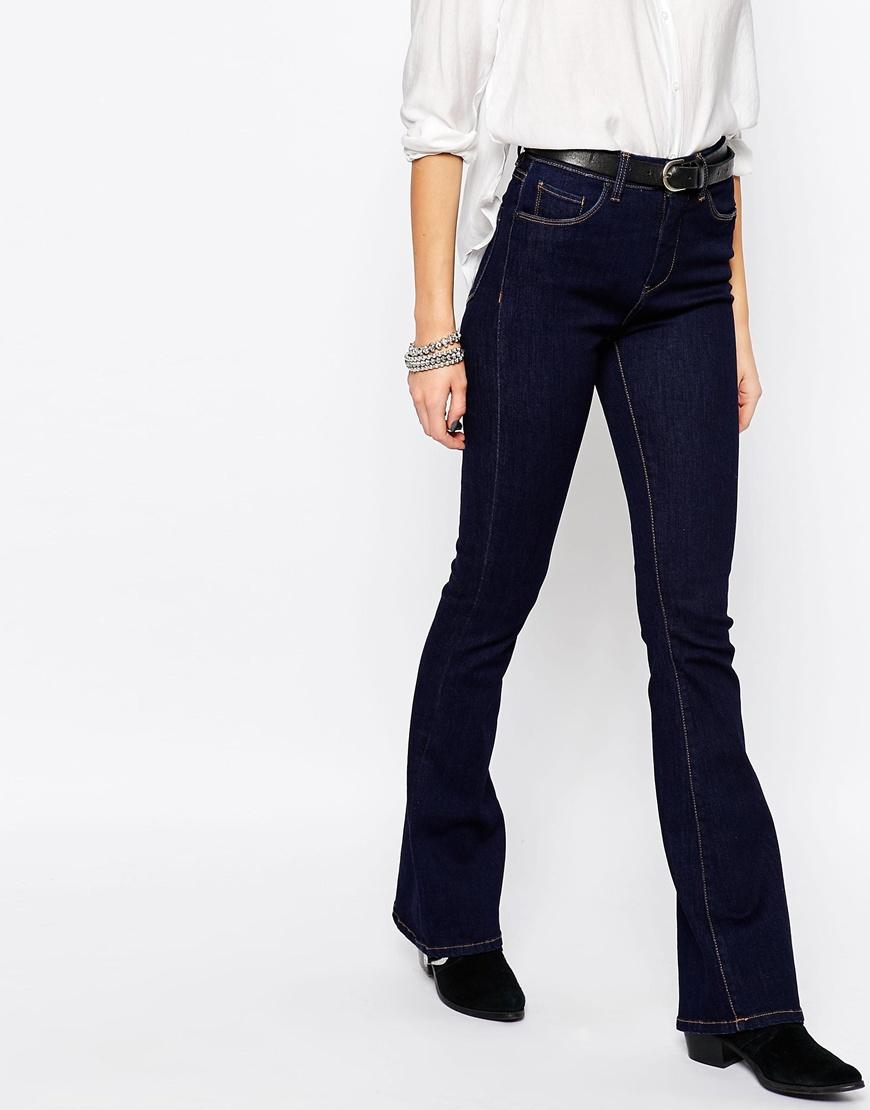 Blank Dark Blue Flared Jeans - Lies & Alibis in Blue | Lyst