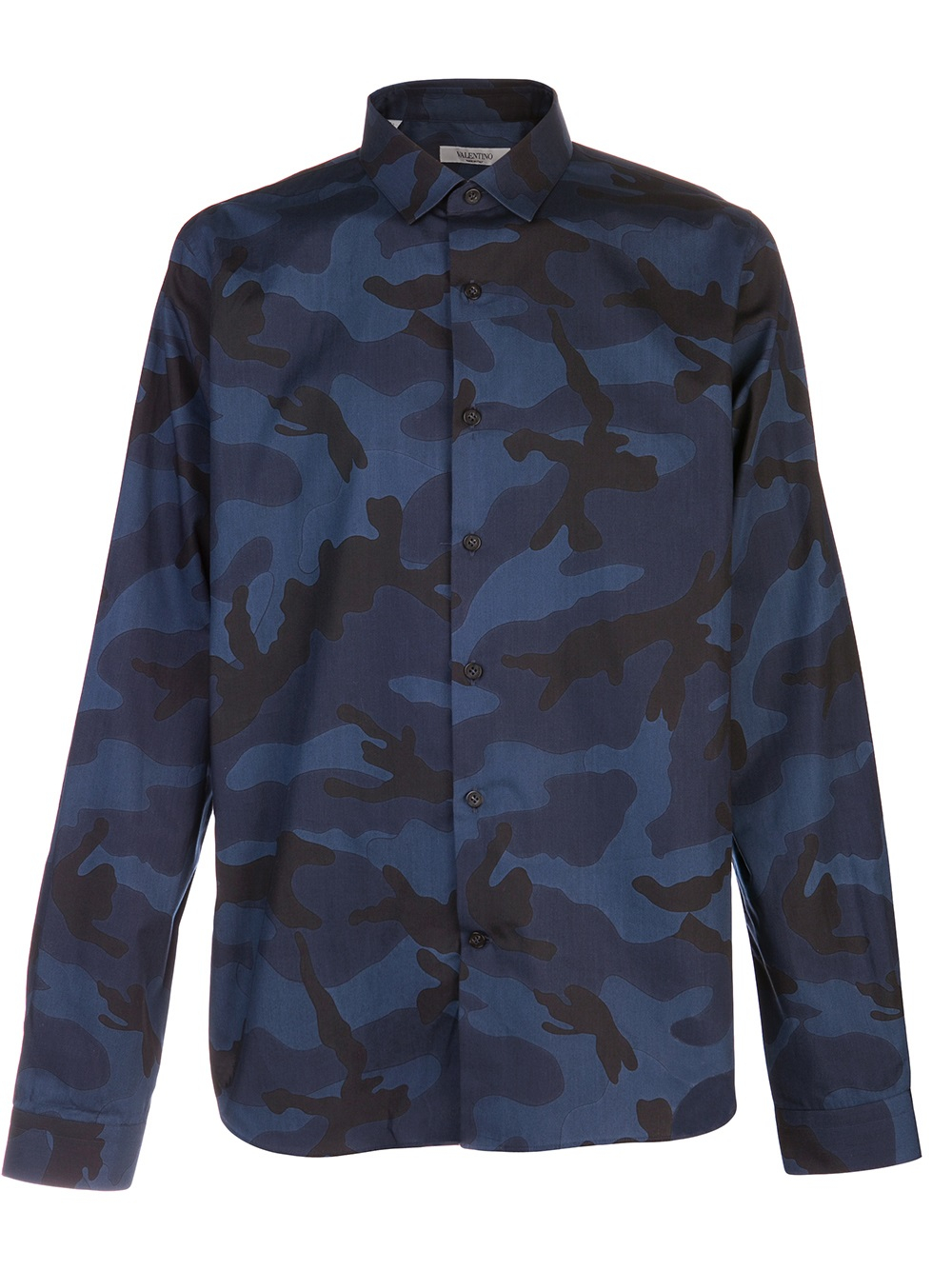 Lyst Valentino Camouflage Shirt In Blue For Men