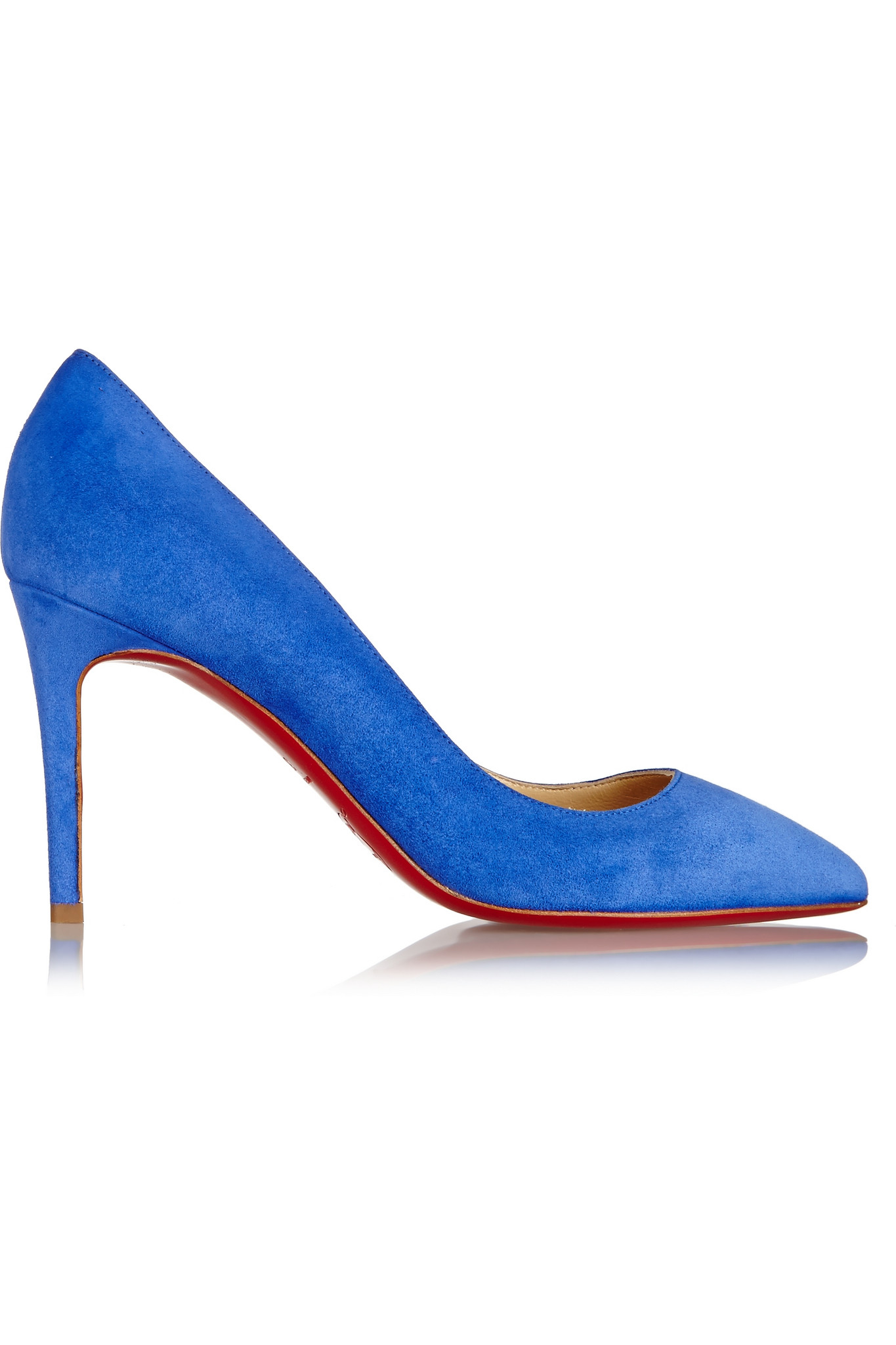 31840cdf7b8d Christian Louboutin Pigalle 85 Suede Pumps in Blue - Lyst