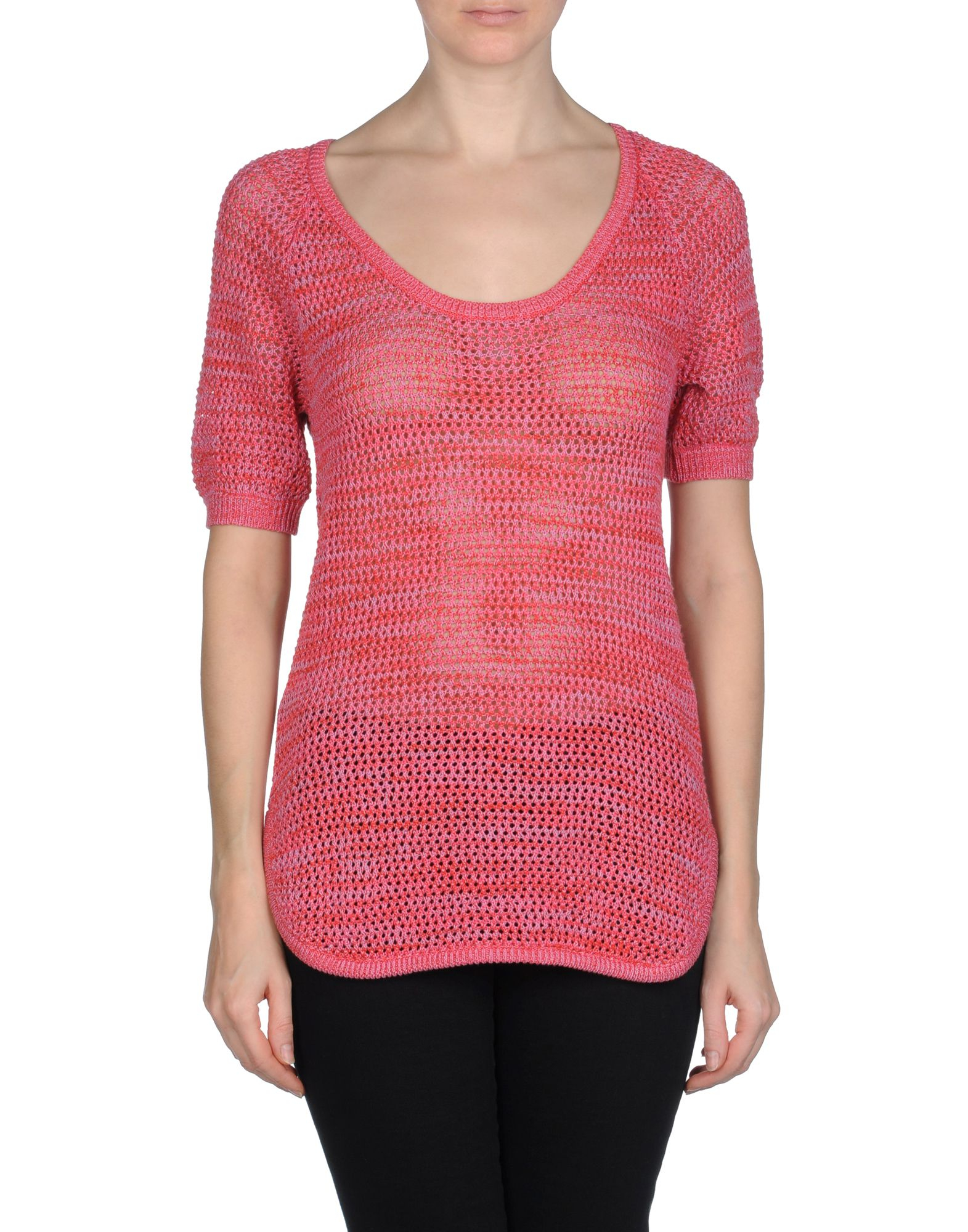See by chloé Short Sleeve Sweater in Pink | Lyst