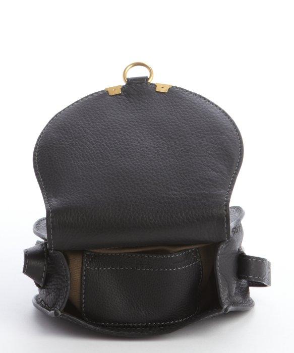 Chlo¨¦ Black Lambskin Leather \u0026#39;marcie\u0026#39; Small Crossbody Bag in Black ...