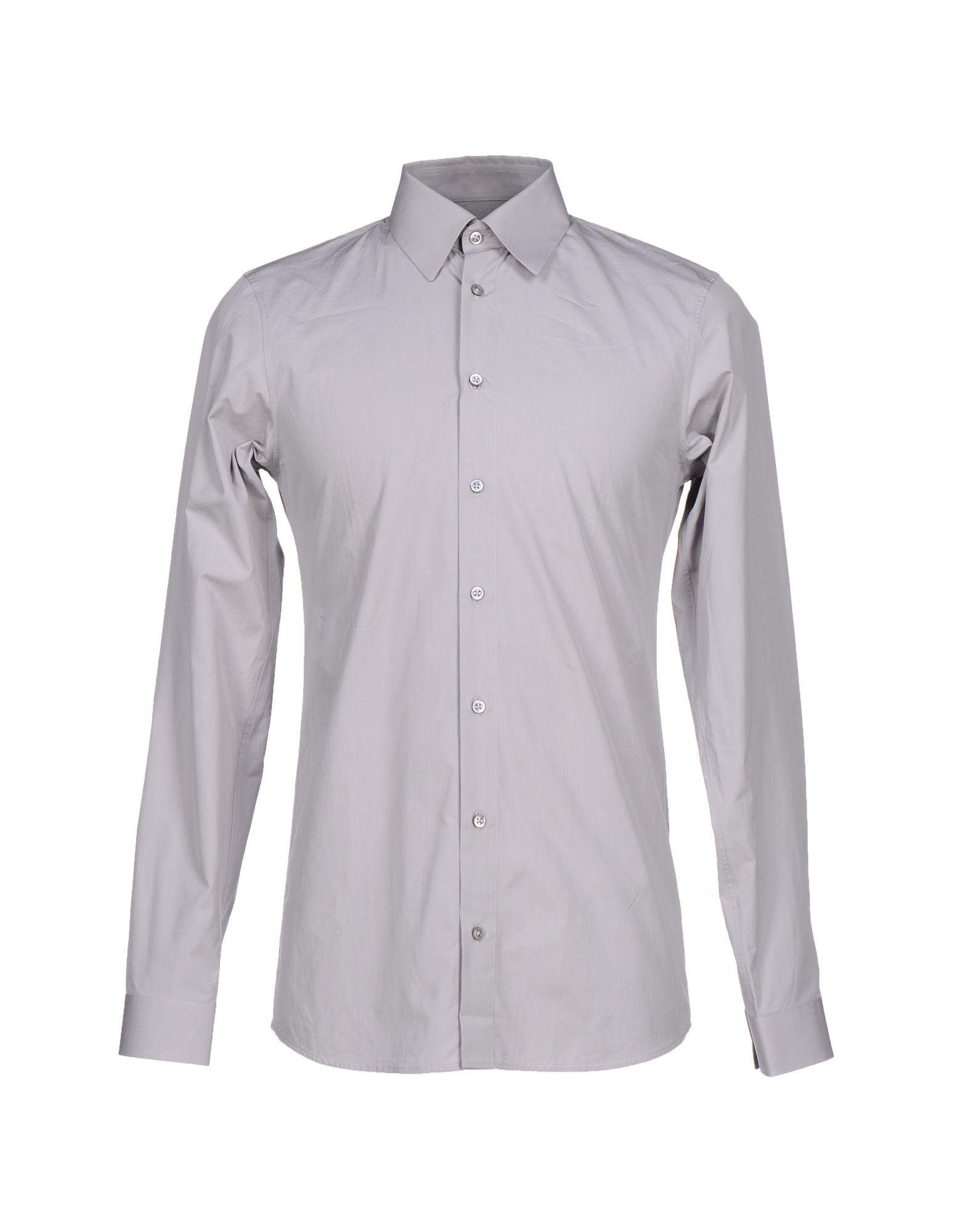 Lyst jil sander shirt in gray for men for Jil sander mens shirt
