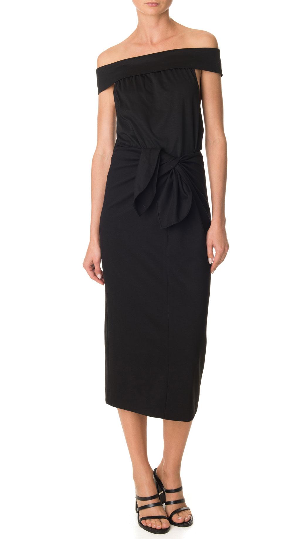Tibi Bond Stretch Knit Pencil Skirt in Black | Lyst