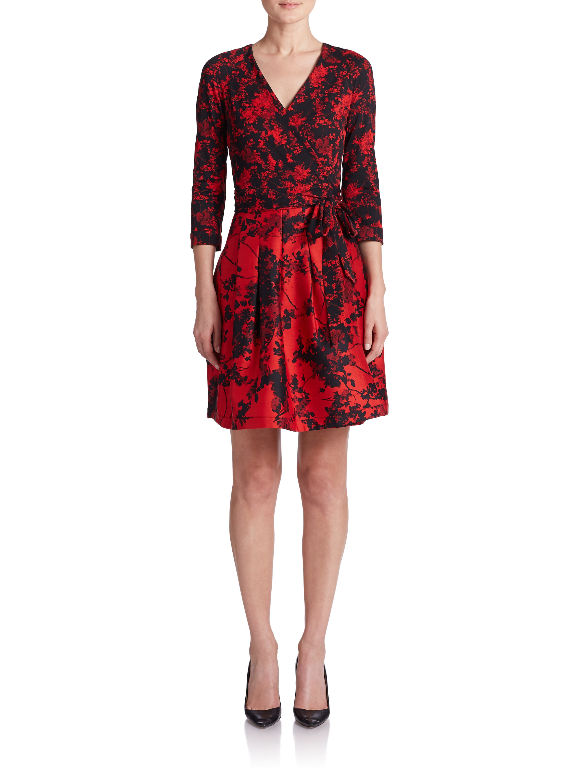 Lyst diane von furstenberg jewel printed wrap dress for Diane von furstenberg clothes