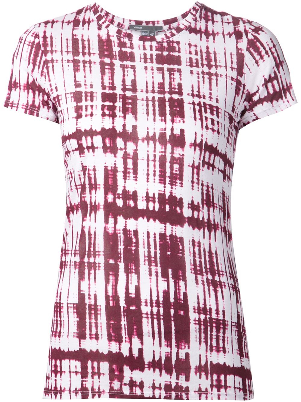 Vince tie dye print t shirt in pink pink purple lyst for Tie dye printed shirts